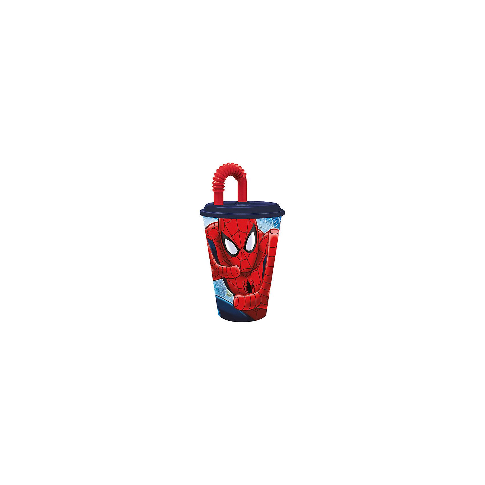 Бокал с крышкой и трубочкой  Человек-Паук 450мл., DisneyЧеловек-Паук<br>Бокал с крышкой и трубочкой  Человек-Паук 450мл., Disney.<br><br>Характеристики:<br><br>• Объем: 450 мл.<br>• Материал: пищевой пластик<br><br>Бокал с крышкой и гофрированной трубочкой, украшенный 3Д изображением Человека-Паука, хорошее решение для детей, которые предпочитают активный образ жизни. Он достаточно объёмный и пить и него можно даже во время ходьбы или катания на велосипеде, не проливая ни капли жидкости. На крышке изделия предусмотрено специальное отверстие, в которое можно убрать кончик трубочки, чтобы на него не попала грязь. Бокал изготовлен из высококачественного пищевого пластика абсолютно безопасного для детей.<br><br>Бокал с крышкой и трубочкой  Человек-Паук 450мл., Disney можно купить в нашем интернет-магазине.<br><br>Ширина мм: 100<br>Глубина мм: 100<br>Высота мм: 180<br>Вес г: 75<br>Возраст от месяцев: 36<br>Возраст до месяцев: 2147483647<br>Пол: Унисекс<br>Возраст: Детский<br>SKU: 5480553