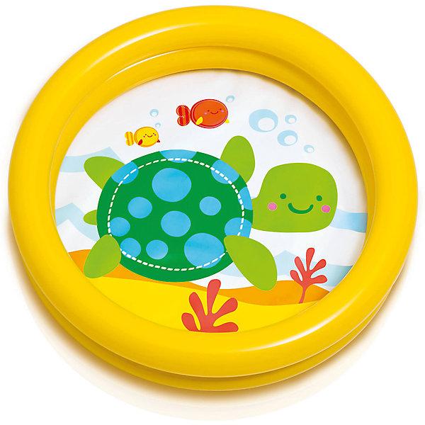 Детский надувной бассейн Черепашка, желтый, IntexБассейны<br>Характеристики:<br><br>• цвет: желтый<br>• в комплекте ремкоплект<br>• размер бассейна: 61x15 см.<br>• объем: 15 литров при наполнении на 80 %<br>• материал: винил 0,2 мм.<br>• ненадувное дно<br>• цвет: желтый<br>• вес в упаковке: 0,27 кг.<br><br>Детский надувной бассейн Черепашка от Intex (Интекс) предназначен для самых маленьких. <br><br>Он отлично подойдет в качестве первого бассейна для вашего малыша. При желании бассейн можно использовать как ванночку для купания. <br><br>Низкие бортики позволят ребенку самостоятельно забраться в бассейн, а картинка на дне сделает водные игры еще интереснее. <br><br>Бортики бассейна представляют собой две воздушных камеры, которые надуваются независимо друг от друга. <br><br>Детский надувной бассейн Черепашка, желтый, Intex (Интекс) можно купить в нашем интернет-магазине.<br>Ширина мм: 284; Глубина мм: 258; Высота мм: 40; Вес г: 257; Возраст от месяцев: 12; Возраст до месяцев: 36; Пол: Унисекс; Возраст: Детский; SKU: 5480578;