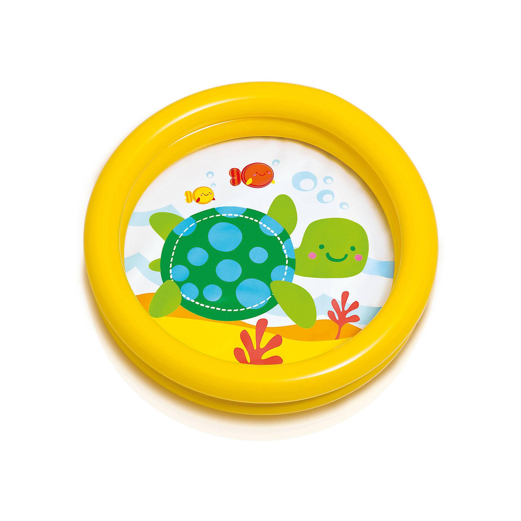 Детский надувной бассейн Черепашка, желтый, IntexБассейны<br>Детский надувной бассейн Черепашка, желтый, Intex (Интекс).<br><br>Характеристики:<br><br>• В комплекте: детский надувной бассейн, ремкоплект<br>• Размер бассейна: 61x15 см.<br>• Объем: 15 литров при наполнении на 80 %<br>• Материал: винил 0,2 мм.<br>• Ненадувное дно<br>• Цвет: желтый<br>• Вес в упаковке: 0,27 кг.<br><br>Детский надувной бассейн Черепашка от Intex (Интекс) предназначен для самых маленьких. Он отлично подойдет в качестве первого бассейна для вашего малыша. При желании бассейн можно использовать как ванночку для купания. Низкие бортики позволят ребенку самостоятельно забраться в бассейн, а картинка на дне сделает водные игры еще интереснее. Бортики бассейна представляют собой две воздушных камеры, которые надуваются независимо друг от друга. Бассейн изготовлен из прочного винила,<br><br>Детский надувной бассейн Черепашка, желтый, Intex (Интекс) можно купить в нашем интернет-магазине.<br><br>Ширина мм: 284<br>Глубина мм: 258<br>Высота мм: 40<br>Вес г: 257<br>Возраст от месяцев: 12<br>Возраст до месяцев: 36<br>Пол: Унисекс<br>Возраст: Детский<br>SKU: 5480578