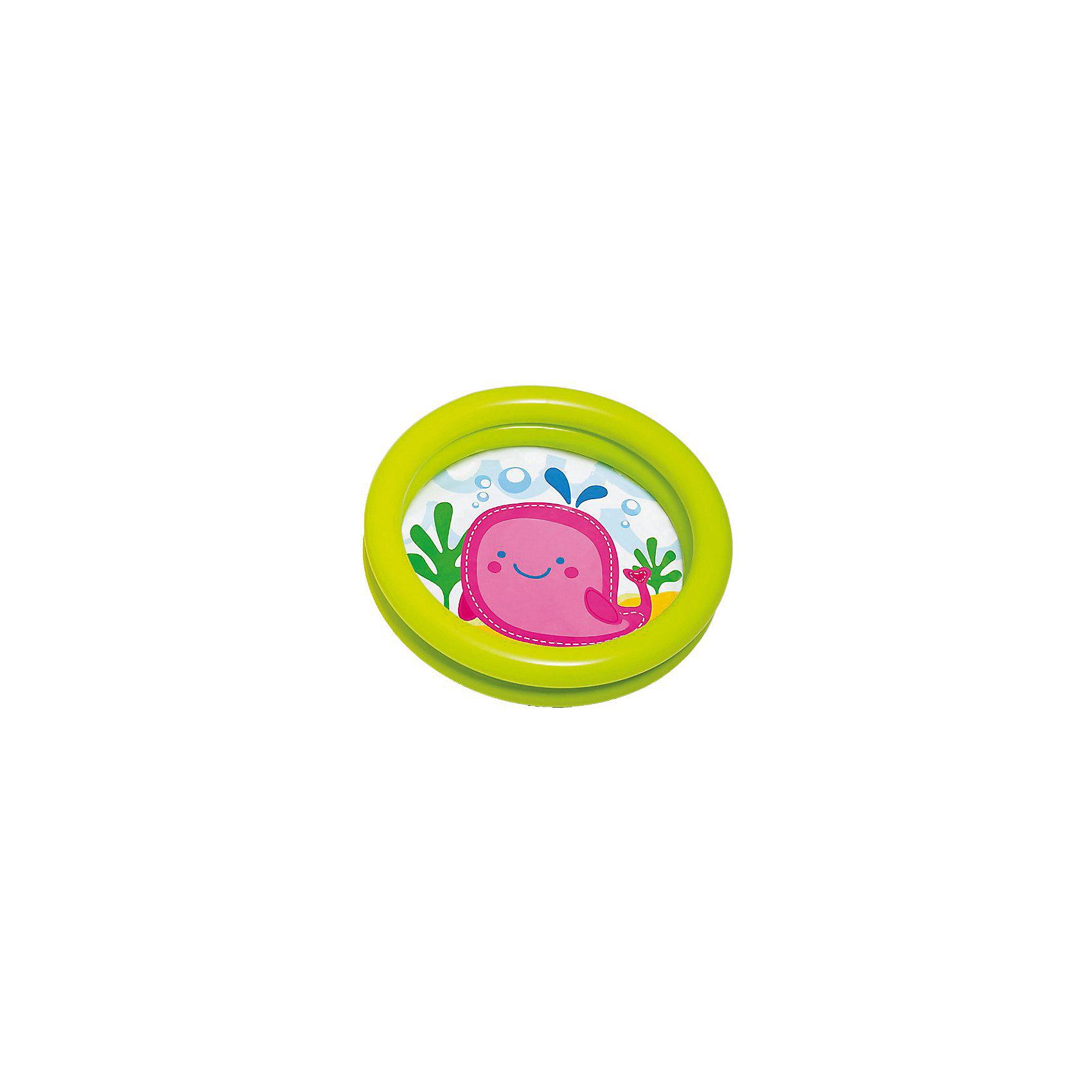 Детский надувной бассейн Кит, IntexБассейны<br>Характеристики товара:<br>• цвет: зеленый<br>• возраст: с 12 мес.<br>• размер бассейна: 61x15 см.<br>• объем: 15 литров при наполнении на 80 %<br>• материал: винил 0,2 мм.<br>• ненадувное дно<br>• ремкоплект прилагается<br>• Вес в упаковке: 0,27 кг.<br><br>Детский надувной бассейн Кит от Intex (Интекс) предназначен для самых маленьких. <br><br>При желании бассейн можно использовать как ванночку для купания. <br><br>Низкие бортики позволят ребенку самостоятельно забраться в бассейн, а картинка на дне сделает водные игры еще интереснее. <br><br>Бортики бассейна представляют собой две воздушных камеры, которые надуваются независимо друг от друга.<br><br>Детский надувной бассейн Кит, зеленый, Intex (Интекс) можно купить в нашем интернет-магазине.<br><br>Ширина мм: 284<br>Глубина мм: 258<br>Высота мм: 40<br>Вес г: 257<br>Возраст от месяцев: 12<br>Возраст до месяцев: 36<br>Пол: Унисекс<br>Возраст: Детский<br>SKU: 5480579
