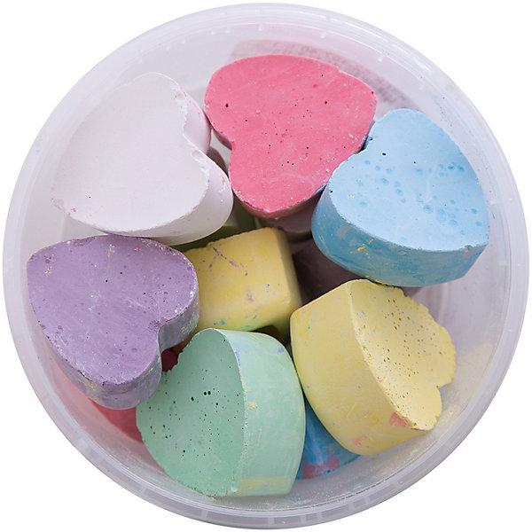 Мелки асфальтовые цветные в ведерке СердцаМелки для асфальта<br>Мелки асфальтовые цветные в ведерке Сердца.<br><br>Характеристики:<br><br>• В наборе: 12 разноцветных мелков<br>• Упаковка: пластиковое ведерко<br>• Размер упаковки: 10х10х6,5 см.<br>• Вес в упаковке: 270 гр.<br><br>Мелки асфальтные цветные в ведерке Сердца – помогут юным художникам преобразить мир вокруг. Мелки пригодятся для игры в классики, помогут создать огромные картины на асфальте и прекрасные рисунки на доске дома, в школе или в детском саду. Мелки выполнены в форме сердечек, что привлечет внимание ребенка и будет стимулировать интерес к рисованию. <br><br>Мелки имеют яркие насыщенные цвета, легко наносятся, так что рисовать ими - одно удовольствие! Мелки упакованы в пластиковое ведро, в котором их удобно брать с собой на прогулку и хранить. Рисование мелками развивает не только моторику рук, но и стимулирует творческое воображение, фантазию, цветовосприятие. Мелки безопасны при использовании по назначению.<br><br>Мелки асфальтовые цветные в ведерке Сердца можно купить в нашем интернет-магазине.<br>Ширина мм: 100; Глубина мм: 100; Высота мм: 65; Вес г: 265; Возраст от месяцев: 36; Возраст до месяцев: 2147483647; Пол: Унисекс; Возраст: Детский; SKU: 5482097;