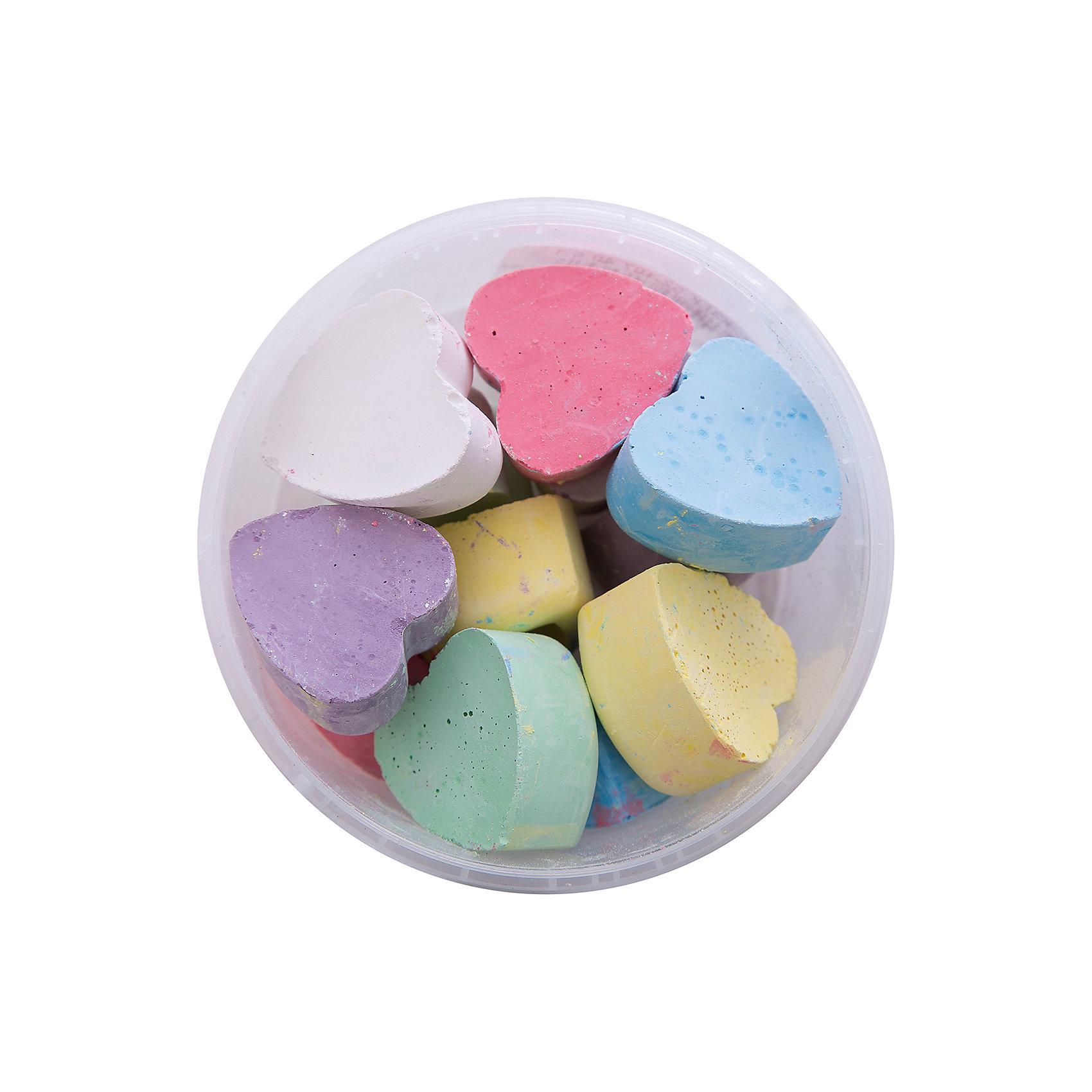 Мелки асфальтовые цветные в ведерке СердцаМелки для асфальта<br>Мелки асфальтовые цветные в ведерке Сердца.<br><br>Характеристики:<br><br>• В наборе: 12 разноцветных мелков<br>• Упаковка: пластиковое ведерко<br>• Размер упаковки: 10х10х6,5 см.<br>• Вес в упаковке: 270 гр.<br><br>Мелки асфальтные цветные в ведерке Сердца – помогут юным художникам преобразить мир вокруг. Мелки пригодятся для игры в классики, помогут создать огромные картины на асфальте и прекрасные рисунки на доске дома, в школе или в детском саду. Мелки выполнены в форме сердечек, что привлечет внимание ребенка и будет стимулировать интерес к рисованию. <br><br>Мелки имеют яркие насыщенные цвета, легко наносятся, так что рисовать ими - одно удовольствие! Мелки упакованы в пластиковое ведро, в котором их удобно брать с собой на прогулку и хранить. Рисование мелками развивает не только моторику рук, но и стимулирует творческое воображение, фантазию, цветовосприятие. Мелки безопасны при использовании по назначению.<br><br>Мелки асфальтовые цветные в ведерке Сердца можно купить в нашем интернет-магазине.<br><br>Ширина мм: 100<br>Глубина мм: 100<br>Высота мм: 65<br>Вес г: 265<br>Возраст от месяцев: 36<br>Возраст до месяцев: 2147483647<br>Пол: Унисекс<br>Возраст: Детский<br>SKU: 5482097