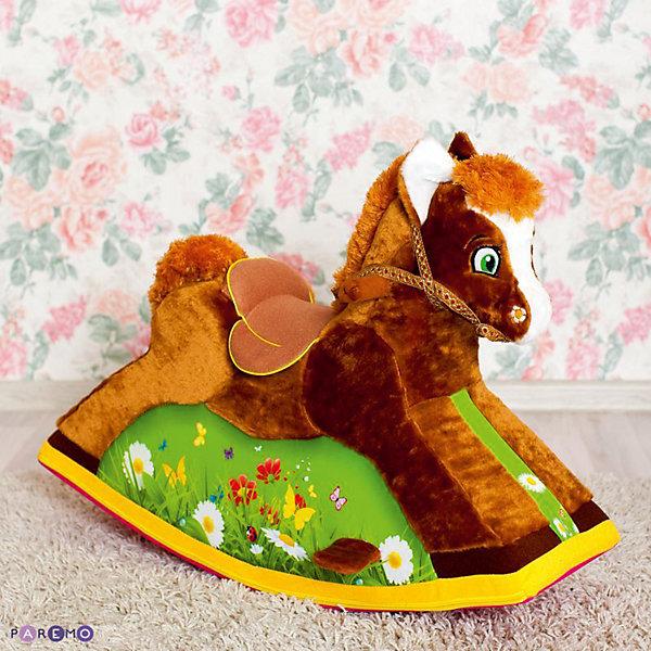 Детская качалка Лошадка, PAREMOКачели и качалки<br>Детская качалка Лошадка, PAREMO (ПАРЕМО).<br><br>Характеристики:<br><br>• Для детей от 1 года до 4 лет<br>• Рекомендованная нагрузка до 20 кг.<br>• Размер: 78х57х39 см.<br>• Вес: 4,5 кг.<br>• Высота от пола до сидения: 35 см.<br>• Материалы чехла: искусственный мех, текстиль, велюр<br>• Наполнитель: пенополиуретан<br>• Упаковка: пакет<br><br>Лошадка-качалка подарит вашему ребенку массу положительных эмоций и станет великолепным тренажером вестибулярного аппарата. Конструкция качалки учитывает все особенности строения детского тела. Игрушка имеет: удобное и мягкое сиденье со специальным седлом для большего комфорта; широкое основание с подножками для легкой фиксации ног ребенка; специальные ручки-держатели; небольшую уздечку. <br><br>Качалка абсолютно безопасна. За счет устойчивого основания и небольшого градуса наклона, риск перевернуться сводится к минимуму. Лошадка имеет бескаркасную конструкцию, поэтому полностью исключается возможность травмироваться во время игры. <br><br>Мягкая обивка приятна на ощупь и не вызывает раздражение чувствительной детской кожи. В качестве наполнителя использован пенополиуретан, который быстро и легко принимает нужную форму под весом ребенка. Забавная качалка станет незаменимым атрибутом различных сюжетно-ролевых игр. Классический дизайн и великолепное детализированное исполнение сделают качалку самой любимой игрушкой вашего малыша! Сделано в России!<br><br>Детскую качалку Лошадка, PAREMO (ПАРЕМО) можно купить в нашем интернет-магазине.<br>Ширина мм: 780; Глубина мм: 390; Высота мм: 570; Вес г: 4500; Возраст от месяцев: 12; Возраст до месяцев: 120; Пол: Унисекс; Возраст: Детский; SKU: 5482298;