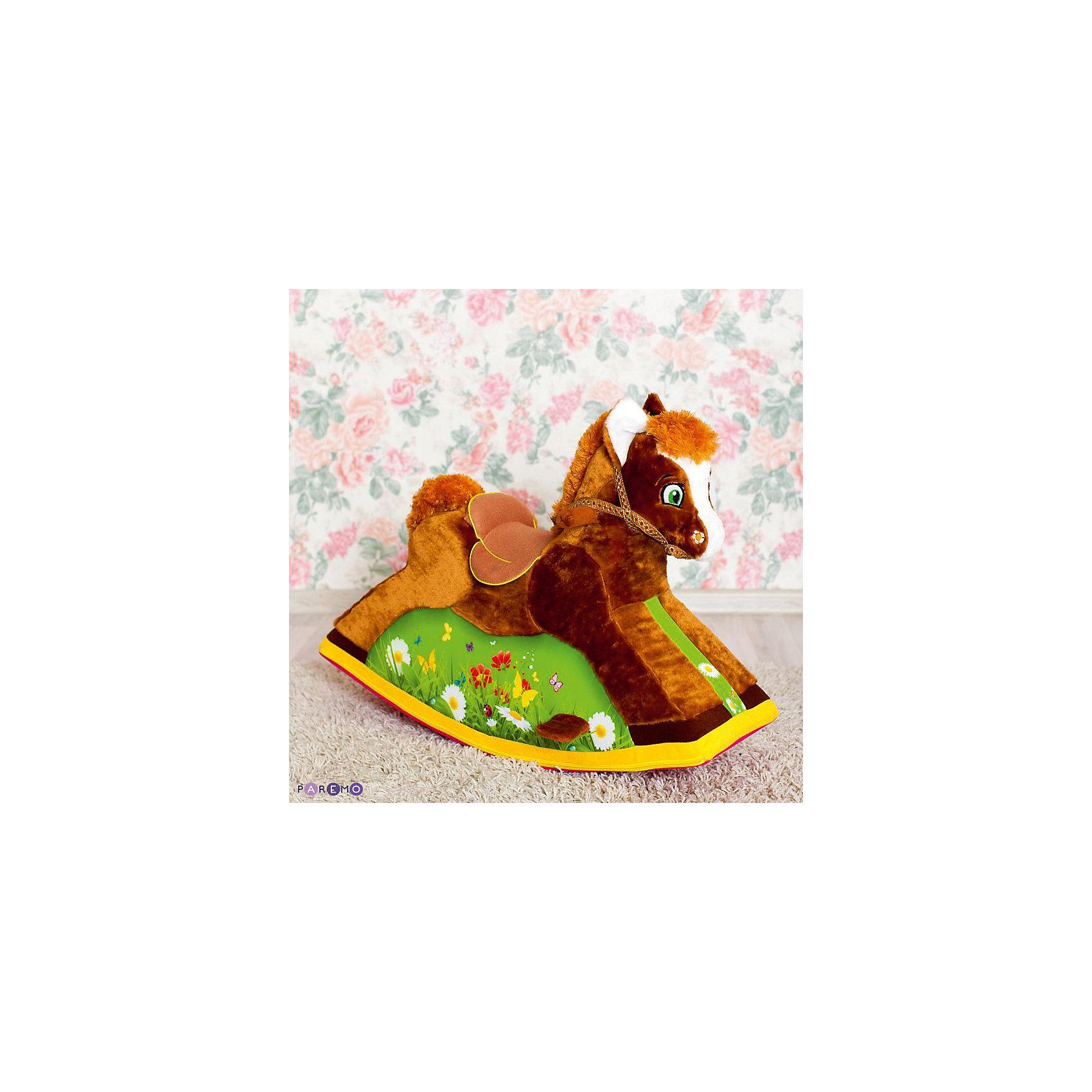 Детская качалка Лошадка, PAREMOКачели и качалки<br>Детская качалка Лошадка, PAREMO (ПАРЕМО).<br><br>Характеристики:<br><br>• Для детей от 1 года до 4 лет<br>• Рекомендованная нагрузка до 20 кг.<br>• Размер: 78х57х39 см.<br>• Вес: 4,5 кг.<br>• Высота от пола до сидения: 35 см.<br>• Материалы чехла: искусственный мех, текстиль, велюр<br>• Наполнитель: пенополиуретан<br>• Упаковка: пакет<br><br>Лошадка-качалка подарит вашему ребенку массу положительных эмоций и станет великолепным тренажером вестибулярного аппарата. Конструкция качалки учитывает все особенности строения детского тела. Игрушка имеет: удобное и мягкое сиденье со специальным седлом для большего комфорта; широкое основание с подножками для легкой фиксации ног ребенка; специальные ручки-держатели; небольшую уздечку. <br><br>Качалка абсолютно безопасна. За счет устойчивого основания и небольшого градуса наклона, риск перевернуться сводится к минимуму. Лошадка имеет бескаркасную конструкцию, поэтому полностью исключается возможность травмироваться во время игры. <br><br>Мягкая обивка приятна на ощупь и не вызывает раздражение чувствительной детской кожи. В качестве наполнителя использован пенополиуретан, который быстро и легко принимает нужную форму под весом ребенка. Забавная качалка станет незаменимым атрибутом различных сюжетно-ролевых игр. Классический дизайн и великолепное детализированное исполнение сделают качалку самой любимой игрушкой вашего малыша! Сделано в России!<br><br>Детскую качалку Лошадка, PAREMO (ПАРЕМО) можно купить в нашем интернет-магазине.<br><br>Ширина мм: 780<br>Глубина мм: 390<br>Высота мм: 570<br>Вес г: 4500<br>Возраст от месяцев: 12<br>Возраст до месяцев: 120<br>Пол: Унисекс<br>Возраст: Детский<br>SKU: 5482298