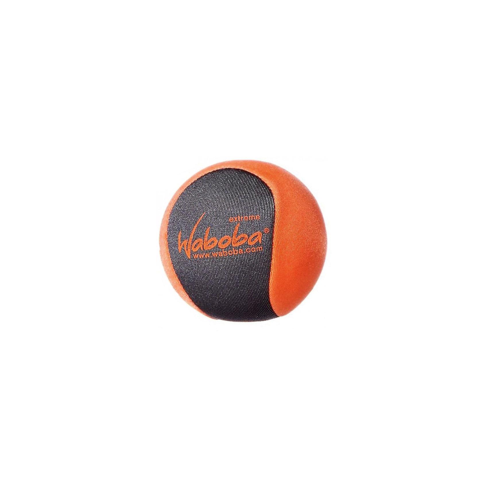 Мяч Waboba Ball Extreme, WabobaИгровые наборы<br>Характеристики товара:<br><br>• материал: полимер<br>• диаметр: 5,5 см<br>• цвет: оранжевый<br>• прочный материал<br>• отскакивает от воды высоко<br>• возраст: от 3 лет<br>• вес: 100 г<br>• страна бренда: Швеция<br>• страна производства: Китай<br><br>Новый вид активного пляжного отдыха: игры с мячами, отскакивающими от воды. Мячи Waboba - это отличный способ весело провести время всей семьей, с детьми или большой компанией. Мячи сделаны из прочного полимерного материала, они отлично держатся на воде, имею яркую расцветку.<br>Данная модификация разрабатывалась для использования в бурной или спокойной воде. Этот мяч высоко и быстро отскакивает от поверхности воды, поэтому играть с ним очень интересно.<br><br>Мяч, отскакивающий от воды, Waboba Ball Extreme, от популярного бренда Waboba можно купить в нашем интернет-магазине.<br><br>Ширина мм: 60<br>Глубина мм: 60<br>Высота мм: 60<br>Вес г: 90<br>Возраст от месяцев: 36<br>Возраст до месяцев: 192<br>Пол: Унисекс<br>Возраст: Детский<br>SKU: 5482365