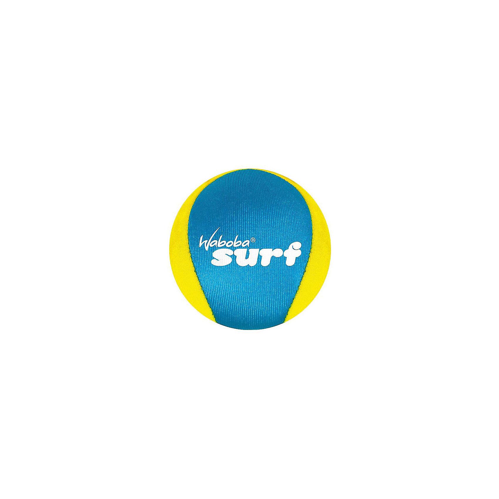 Мяч Waboba Ball New Surf, WabobaИгровые наборы<br>Характеристики товара:<br><br>• материал: полимер<br>• диаметр: 6 см<br>• цвет: желтый<br>• прочный материал<br>• отскакивает от воды высоко<br>• возраст: от 3 лет<br>• вес: 100 г<br>• страна бренда: Швеция<br>• страна производства: Китай<br><br>Новый вид активного пляжного отдыха: игры с мячами, отскакивающими от воды. Мячи Waboba - это отличный способ весело провести время всей семьей, с детьми или большой компанией. Мячи сделаны из прочного полимерного материала, они отлично держатся на воде, имею яркую расцветку.<br><br>Данная модификация разрабатывалась для использования в спокойной воде или открытых водоемах. Этот мяч высоко и быстро отскакивает от поверхности воды, поэтому играть с ним очень интересно.<br><br>Мяч, отскакивающий от воды, Waboba Ball New Surf, от популярного бренда Waboba можно купить в нашем интернет-магазине.<br><br>Ширина мм: 60<br>Глубина мм: 60<br>Высота мм: 60<br>Вес г: 90<br>Возраст от месяцев: 36<br>Возраст до месяцев: 192<br>Пол: Унисекс<br>Возраст: Детский<br>SKU: 5482366