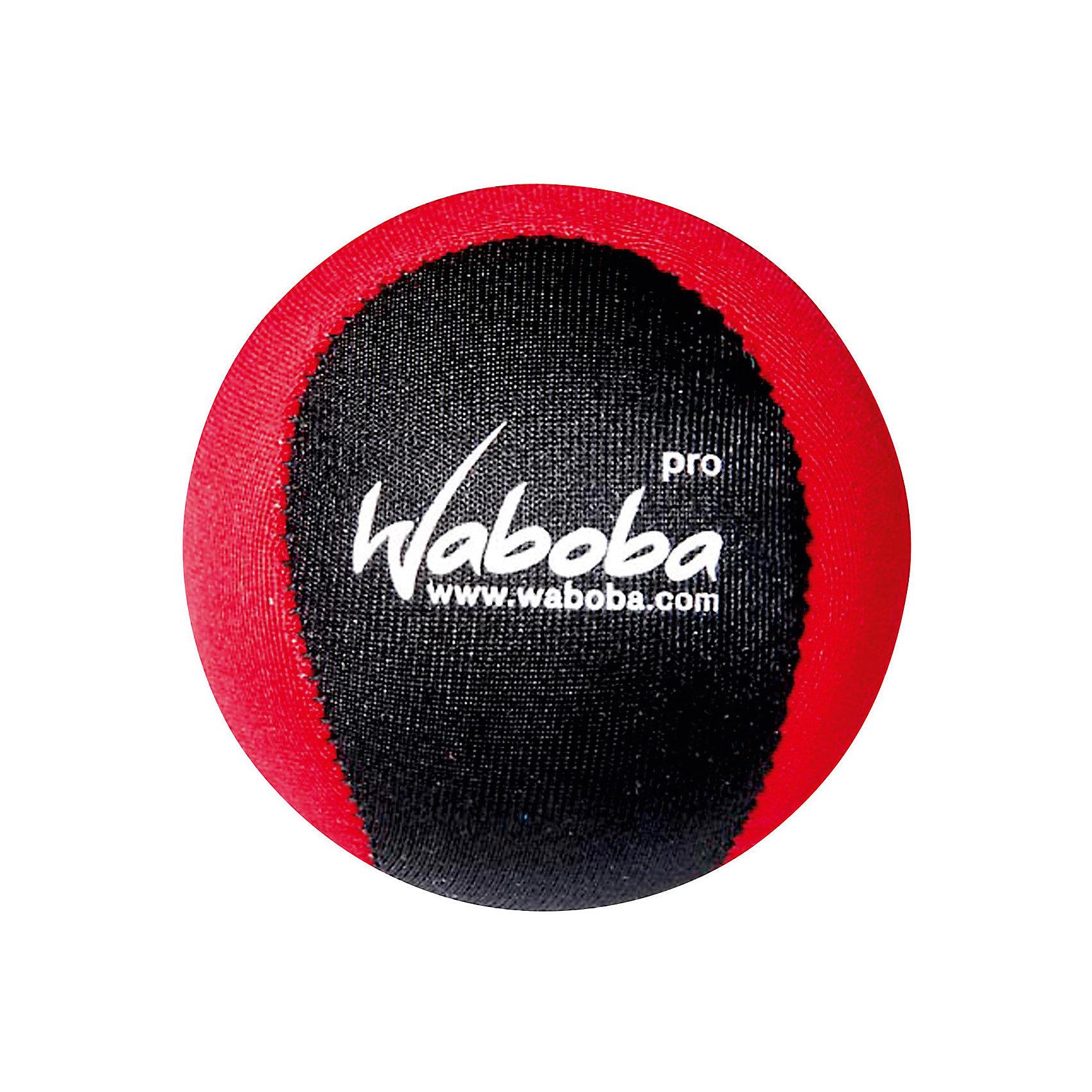 Мяч Waboba Ball Pro, WabobaИгровые наборы<br>Характеристики товара:<br><br>• материал: полимер<br>• диаметр: 6 см<br>• цвет: красный/чёрный<br>• прочный материал<br>• стабильная траектория<br>• возраст: от 3 лет<br>• вес: 100 г<br>• страна бренда: Швеция<br>• страна производства: Китай<br><br>Новый вид активного пляжного отдыха: игры с мячами, отскакивающими от воды. Мячи Waboba - это отличный способ весело провести время всей семьей, с детьми или большой компанией. Мячи сделаны из прочного полимерного материала, они отлично держатся на воде, имею яркую расцветку.<br><br>Данная модификация разрабатывалась для использования во время соревнований - его траектория полета этого мяча очень стабильная, и опытные игроки могут легко ее просчитать. Отличный подарок для тех, кто уже увлекся мячами Waboba!<br><br>Мяч, отскакивающий от воды, Waboba Ball Pro, от популярного бренда Waboba можно купить в нашем интернет-магазине.<br><br>Ширина мм: 60<br>Глубина мм: 60<br>Высота мм: 60<br>Вес г: 110<br>Возраст от месяцев: 36<br>Возраст до месяцев: 192<br>Пол: Унисекс<br>Возраст: Детский<br>SKU: 5482367