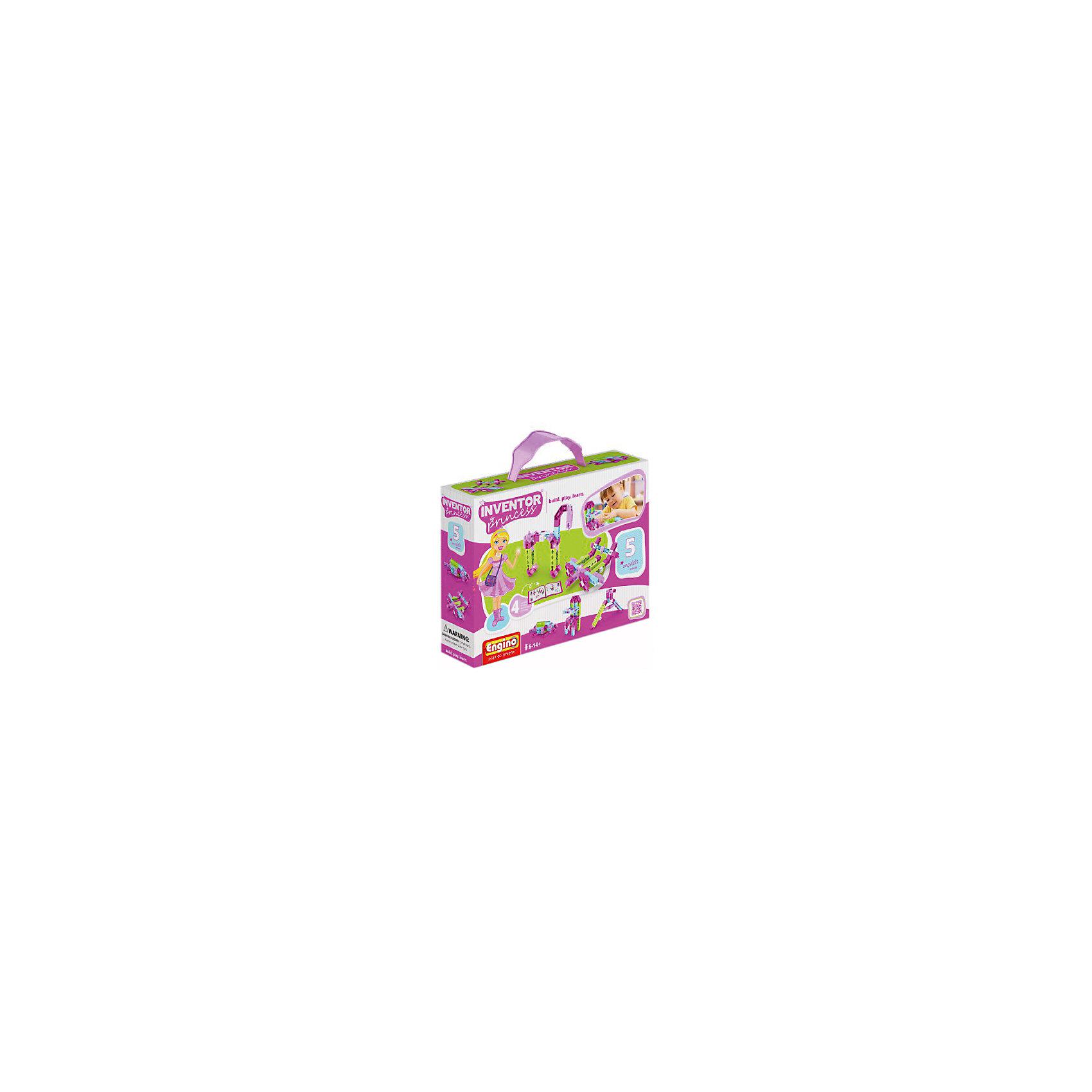 Конструктор INVENTOR GIRLS, 5 моделей, EnginoПластмассовые конструкторы<br>Характеристики товара:<br><br>• материал: пластик<br>• размер упаковки: 5х22х16 см<br>• комплектация: коробка, детали, инструкции<br>• упаковка: коробка<br>• можно собрать 5 моделей<br>• возраст: от 3 лет<br>• совместим с другими наборами Engino<br>• 172 детали<br>• страна бренда: Кипр<br><br>Конструктор - это отличный способ помочь развитию ребенка. Сборка фигурок из деталей способствует скорейшему развитию мелкой моторики, пространственного мышления, логики, цветовосприятия и воображения. Помимо этого, собирать конструктор - очень увлекательное занятие!<br><br>Конструкторы от Engino - это развивающие игрушки нового поколения. Из этого конструктора можно собрать сразу 5 разных фигурок! Сделать это можно с помощью инструкции, входящей в комплект или информации из интернета. Отличный полезный подарок для девочки! <br><br>Конструктор INVENTOR GIRLS, 5 моделей, от популярного бренда Engino можно купить в нашем интернет-магазине.<br><br>Ширина мм: 220<br>Глубина мм: 60<br>Высота мм: 160<br>Вес г: 189<br>Возраст от месяцев: 36<br>Возраст до месяцев: 192<br>Пол: Женский<br>Возраст: Детский<br>SKU: 5482370