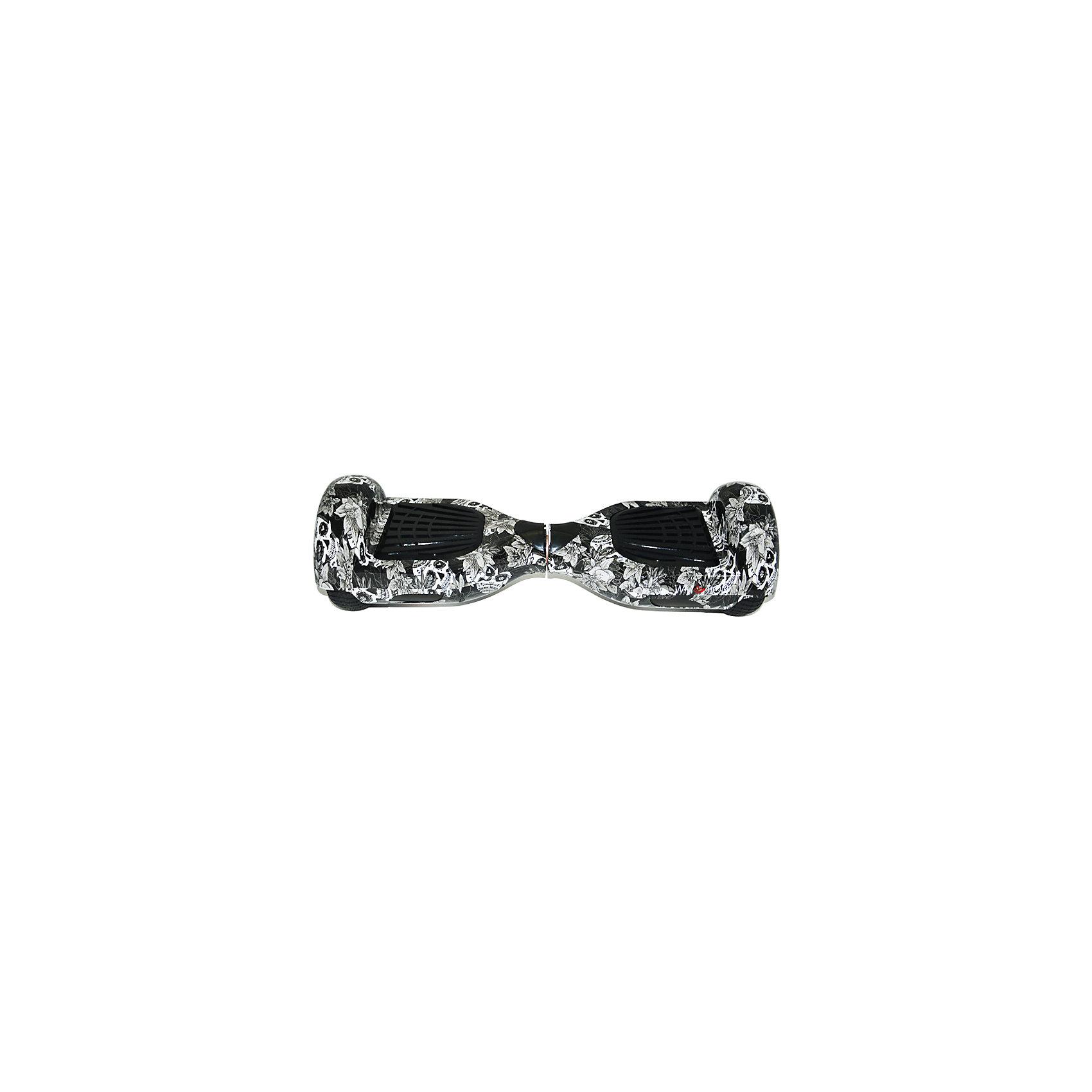 Гироскутер, черный череп, WMOTIONГироскутеры<br>Характеристики товара:<br><br>• материал: пластик, металл<br>• размер: 16х58х17 см<br>• комплектация: гироскутер, зарядка, сумка, инструкция по эксплуатации, гарантийный талон, коробка<br>• цвет: черный, белый<br>• диаметр колёс: 6,5 дюймов<br>• максимальная нагрузка: 100 кг<br>• максимальная скорость – 10 км/ч <br>• максимальное расстояние, которое можно проехать на одном заряде: 20 км <br>• мощность электродвигателя: 0.35 кВт<br>• ёмкость аккумулятора: 4 400 мАч<br>• время, необходимое для полной зарядки аккумулятора: 90 мин<br>• стильный дизайн<br>• вес: 10 кг<br>• страна производитель: Китай<br>• страна бренда: Китай<br><br>Один из самых модных на настоящий моментов вид передвижения - это гироскутер. Он эффектно выглядит, позволяет ехать со скоростью выше, чем у пешеходов, но при этом достаточно безопасной для владельца. Управлять таким средством передвижения достаточно просто: нужно всего лишь переносить вес тела в определенное направление.<br><br>Такой гироскутер достаточно быстро заряжается, он не много весит. Модель уже пользуется популярностью в западных странах. Она действительно стильно выглядит, особенно в темноте с подсветкой, и позволяет выполнять эффектные трюки!<br><br>Гироскутер, черный череп, от популярного бренда WMOTION можно купить в нашем интернет-магазине.<br><br>Ширина мм: 170<br>Глубина мм: 170<br>Высота мм: 580<br>Вес г: 10000<br>Возраст от месяцев: 60<br>Возраст до месяцев: 192<br>Пол: Унисекс<br>Возраст: Детский<br>SKU: 5482382