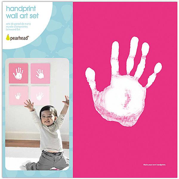 Отпечаток на холсте, PearheadДетские предметы интерьера<br>Характеристики:<br><br>• Пол: для девочки<br>• Цвет: оттенки розового<br>• Материал: текстиль, краски, пластик<br>• Комплектация: 4 холста в розовых оттенках, белая краска, лоток для краски, инструкция<br>• Безопасные материалы<br>• Размеры (Д*Ш*В): 25*7*25 см <br>• Вес: 400 г <br>• Особенности ухода: допускается сухая чистка<br><br>Отпечаток на холсте, Pearhead от американского торгового бренда, который специализируется на создании подарочных наборов для новорожденных и их родителей. Инновационные технологии, которые используются при создании наборов для изготовления отпечатков являются безопасными и не вызывают аллергии. <br><br>Разработанная специальным образом краска ровно наносится на руку и легко смывается. В набор входит 4 холста, выполненных в розовых оттенках, белая краска и лоток. Набор позволяет создать целую домашнюю галерею из детско-взрослых отпечатков. Холсты выполнены в розовом цвете, поэтому они подойдут для создания отпечатков девочки. <br><br>Отпечаток на холсте, Pearhead можно купить в нашем интернет-магазине.<br><br>Ширина мм: 35<br>Глубина мм: 250<br>Высота мм: 250<br>Вес г: 916<br>Возраст от месяцев: 0<br>Возраст до месяцев: 84<br>Пол: Унисекс<br>Возраст: Детский<br>SKU: 5482407