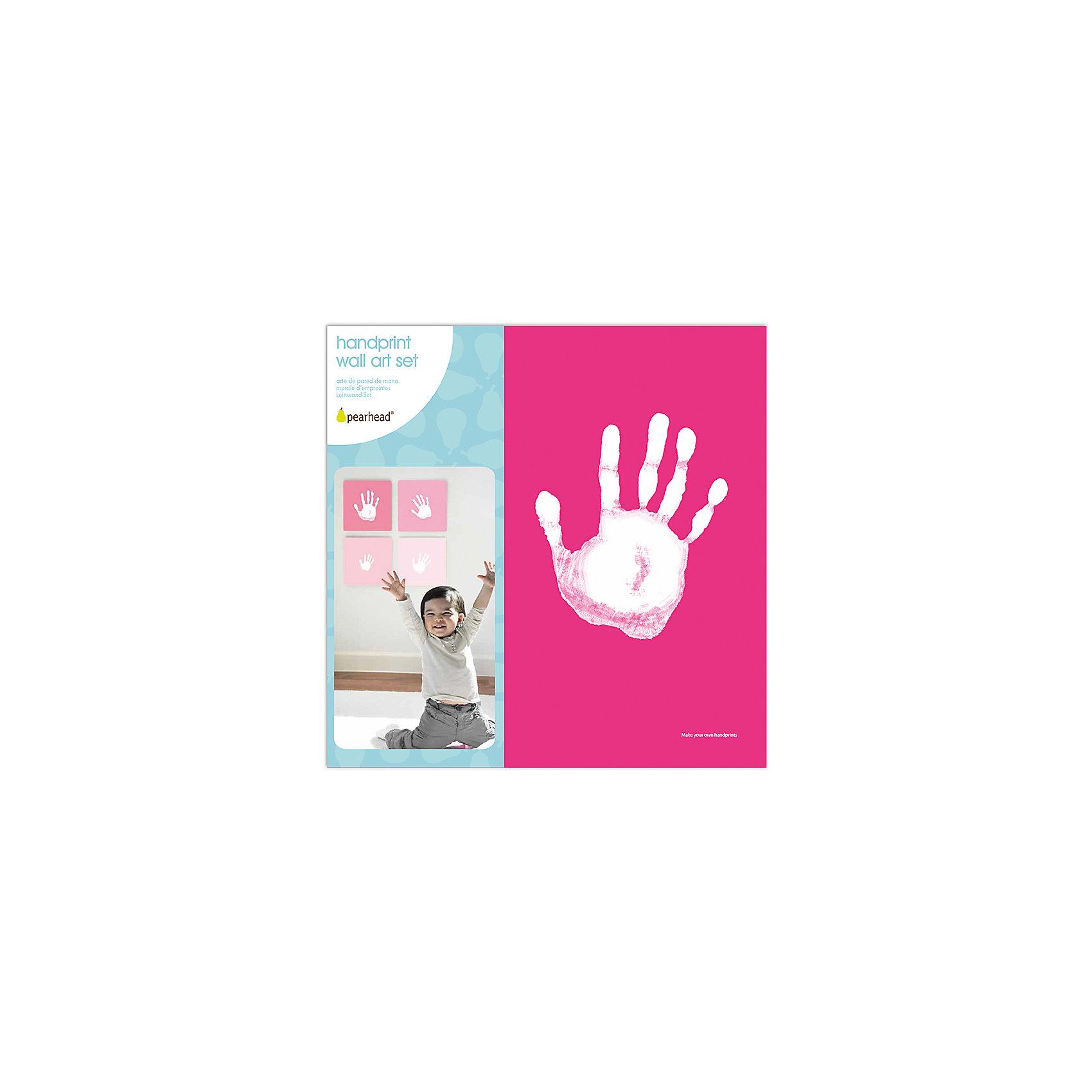 Отпечаток на холсте, PearheadПредметы интерьера<br>Характеристики:<br><br>• Пол: для девочки<br>• Цвет: оттенки розового<br>• Материал: текстиль, краски, пластик<br>• Комплектация: 4 холста в розовых оттенках, белая краска, лоток для краски, инструкция<br>• Безопасные материалы<br>• Размеры (Д*Ш*В): 25*7*25 см <br>• Вес: 400 г <br>• Особенности ухода: допускается сухая чистка<br><br>Отпечаток на холсте, Pearhead от американского торгового бренда, который специализируется на создании подарочных наборов для новорожденных и их родителей. Инновационные технологии, которые используются при создании наборов для изготовления отпечатков являются безопасными и не вызывают аллергии. <br><br>Разработанная специальным образом краска ровно наносится на руку и легко смывается. В набор входит 4 холста, выполненных в розовых оттенках, белая краска и лоток. Набор позволяет создать целую домашнюю галерею из детско-взрослых отпечатков. Холсты выполнены в розовом цвете, поэтому они подойдут для создания отпечатков девочки. <br><br>Отпечаток на холсте, Pearhead можно купить в нашем интернет-магазине.<br><br>Ширина мм: 35<br>Глубина мм: 250<br>Высота мм: 250<br>Вес г: 916<br>Возраст от месяцев: 0<br>Возраст до месяцев: 84<br>Пол: Унисекс<br>Возраст: Детский<br>SKU: 5482407