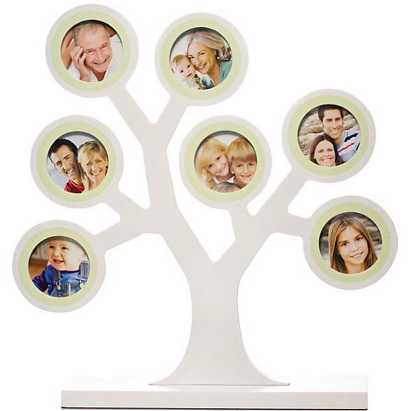 Рамочка Мое семейное дерево, PearheadДетские предметы интерьера<br>Характеристики:<br><br>• Пол: универсальный<br>• Тематика рисунка: без рисунка<br>• Цвет: молочный<br>• Материал: дерево<br>• Тип рамки: настольная<br>• Количество секций: 7<br>• Форма секций: круг<br>• Диаметр секций: ?4,5 см<br>• Размеры рамки (Д*Ш*В): 31*7,5*29,5 см <br>• Вес: 680 г <br>• Особенности ухода: допускается сухая и влажная чистка<br><br>Рамочка Мое семейное дерево, Pearhead изготовлена американским торговым брендом, который специализируется на создании подарочных наборов для новорожденных и их родителей. Дизайнерская рамочка для фотографий выполнена в виде дерева с ветками, на которых расположены круглые секции для фото. <br><br>У рамки-дерева устойчивое основание. Предназначена для семи фотографий. Изделие выполнено из дерева, окрашено в нейтральный цвет, поэтому подойдет для интерьера любого стилевого направления. <br><br>Рамочку Мое семейное дерево, Pearhead можно купить в нашем интернет-магазине.<br><br>Ширина мм: 75<br>Глубина мм: 295<br>Высота мм: 310<br>Вес г: 736<br>Возраст от месяцев: 0<br>Возраст до месяцев: 84<br>Пол: Унисекс<br>Возраст: Детский<br>SKU: 5482428