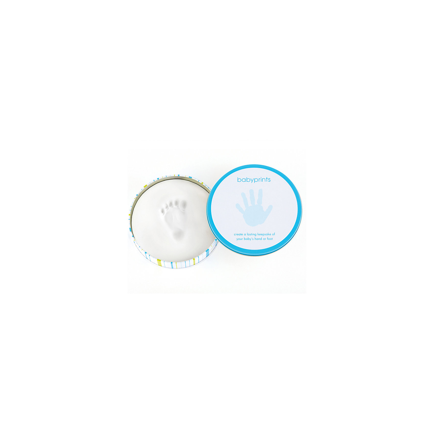 Подарок Пяточка-Ладошка (Отпечаток), PearheadХарактеристики:<br><br>• Пол: для мальчика<br>• Цвет: белый, голубой<br>• Материал: дерево, слепочный материал, олово<br>• Комплектация: материал для изготовления отпечатков, форма для заготовки, оловянная подставка, инструкция<br>• Тип рамки: для полки<br>• Количество секций: 2<br>• Форма секций: круг<br>• Оловянная подставка<br>• Размеры рамки (Д*Ш*В): 15*4*15 см <br>• Вес: 650 г <br>• Особенности ухода: допускается сухая и влажная чистка<br><br>Подарок Пяточка-Ладошка (Отпечаток), Pearhead изготовлена американским торговым брендом, который специализируется на создании подарочных наборов для новорожденных и их родителей. Инновационные технологии, которые используются при создании наборов для изготовления слепков являются безопасными и не вызывают аллергии. <br><br>Разработанный специальным образом материал для снятия слепков обеспечивает чистое касание детской ручки или ножки. В набор входит рамка, состоящая из двух круглых секций, необходимые материалы и инструменты для создания детских слепков. Оловянная подставка придает устойчивость изделию. Изделие выполнено в классическом дизайне, поэтому подойдет для интерьера любого стилевого направления. <br><br>Подарок Пяточка-Ладошка (Отпечаток), Pearhead можно купить в нашем интернет-магазине.<br><br>Ширина мм: 150<br>Глубина мм: 40<br>Высота мм: 150<br>Вес г: 220<br>Возраст от месяцев: 0<br>Возраст до месяцев: 84<br>Пол: Мужской<br>Возраст: Детский<br>SKU: 5482432