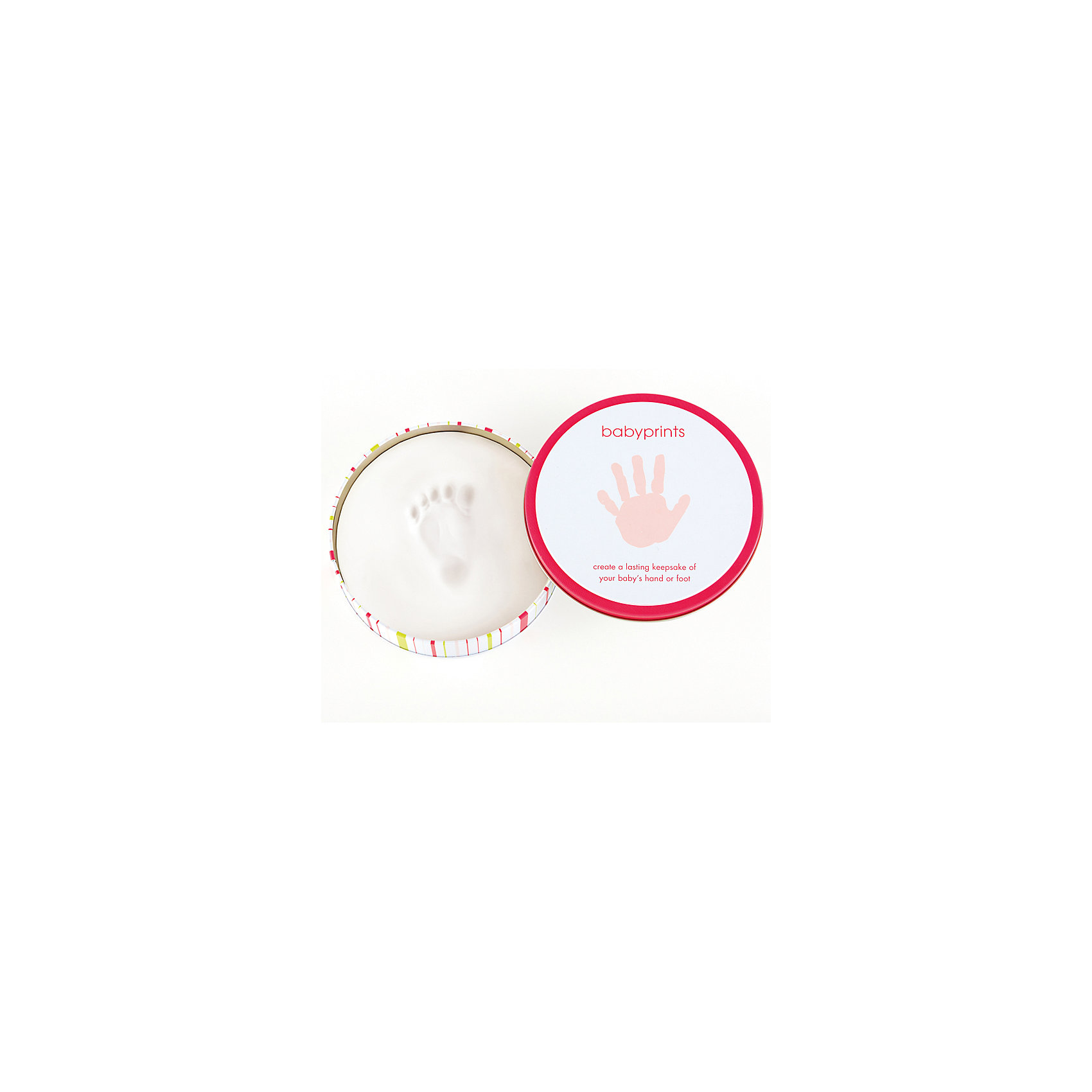 Подарок Пяточка-Ладошка (Отпечаток), PearheadДетские предметы интерьера<br>Характеристики:<br><br>• Пол: для девочки<br>• Цвет: белый, розовый<br>• Материал: слепочный материал, олово<br>• Комплектация: материал для изготовления отпечатков, форма для заготовки, оловянная подставка, инструкция<br>• Тип рамки: для полки<br>• Количество секций: 2<br>• Форма секций: круг<br>• Оловянная подставка<br>• Размеры рамки (Д*Ш*В): 15*4*15 см <br>• Вес: 650 г <br>• Особенности ухода: допускается сухая и влажная чистка<br><br>Подарок Пяточка-Ладошка (Отпечаток), Pearhead изготовлена американским торговым брендом, который специализируется на создании подарочных наборов для новорожденных и их родителей. Инновационные технологии, которые используются при создании наборов для изготовления слепков являются безопасными и не вызывают аллергии. <br><br>Разработанный специальным образом материал для снятия слепков обеспечивает чистое касание детской ручки или ножки. В набор входит рамка, состоящая из двух круглых секций, необходимые материалы и инструменты для создания детских слепков. Оловянная подставка придает устойчивость изделию. Изделие выполнено в классическом дизайне, поэтому подойдет для интерьера любого стилевого направления. <br><br>Подарок Пяточка-Ладошка (Отпечаток), Pearhead можно купить в нашем интернет-магазине.<br><br>Ширина мм: 150<br>Глубина мм: 40<br>Высота мм: 150<br>Вес г: 220<br>Возраст от месяцев: 0<br>Возраст до месяцев: 84<br>Пол: Женский<br>Возраст: Детский<br>SKU: 5482433