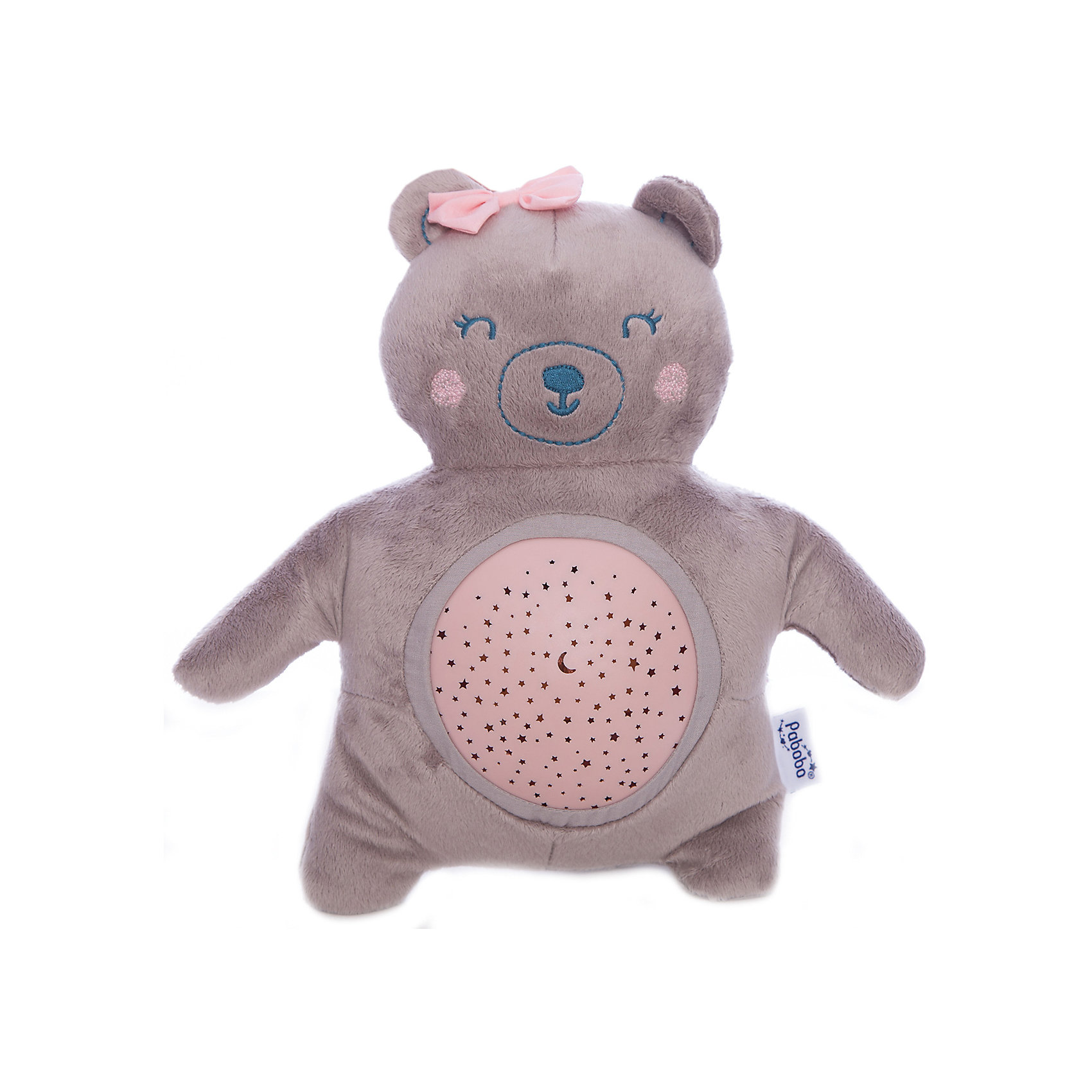 6196 (PSP01-TEDDYGIRL)Ночники и проекторы<br>Характеристики:<br><br>• Пол: для девочки<br>• Форма светильника: медвежонок<br>• Цвет: серый, розовый<br>• Материал: пластик, текстиль<br>• Мягкий рассеянный свет<br>• Во время работы не нагревается<br>• 15 минут звучания музыки<br>• 22 минуты непрерывной проекции звездного неба<br>• Функция адаптации к уровню естественного освещения<br>• Съемный проектор<br>• Батарейки: 3 шт. типа AA/LR6 ( в комплекте не предусмотрены)<br>• Способ зарядки: USB кабель<br>• Размеры: 32*10,5*18 см<br>• Вес: 200 г <br>• Особенности ухода: допускается сухая и влажная чистка<br><br>Ночник Медвежонок от французского торгового бренда, который занимается производством детских светильников и проекторов. При изготовлении используются качественные и безопасные материалы, которые характеризуются длительным сроком службы. Пластик, из которого изготовлен ночник, устойчив к повреждениям и появлению царапин, не имеет запаха. <br><br>Светильник оснащен светодиодными лампами, которые не нужно менять. Степень яркости автоматически регулируется в зависимости от естественного освещения. У него компактный размер и легкий вес. У светильника предусмотрен режим проекции звездного неба и режим проигрывания музыки. Предусмотрена функция автоматического включения-выключения. Ночника оснащен функция смены цвета освещения. Выполнен в виде плюшевого мишки со съемным проектором, что делает его не только практичным предметом, но и любимой детской игрушкой.<br><br>Ночник Медвежонок можно купить в нашем интернет-магазине.<br><br>Ширина мм: 180<br>Глубина мм: 105<br>Высота мм: 320<br>Вес г: 250<br>Возраст от месяцев: 0<br>Возраст до месяцев: 312<br>Пол: Женский<br>Возраст: Детский<br>SKU: 5482461