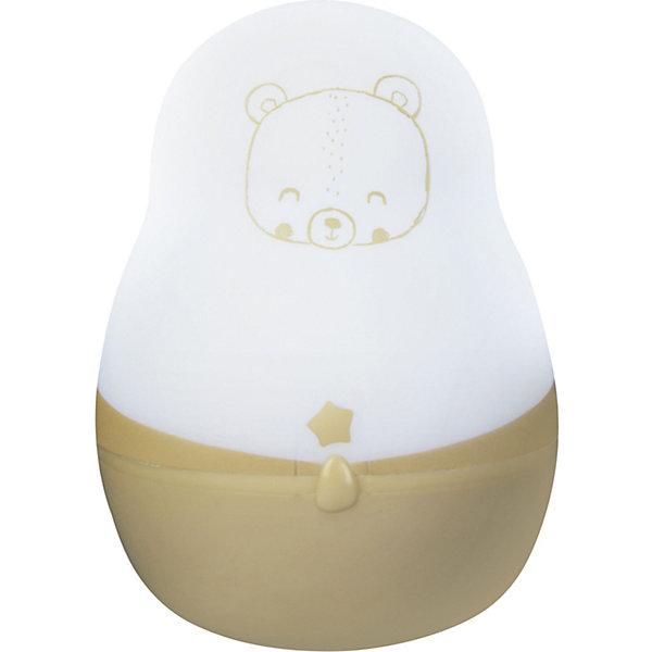 Ночник супер путешественник, Pabobo, ЛесДетские предметы интерьера<br>Характеристики:<br><br>• Пол: универсальный<br>• Тематика рисунка: медвежонок<br>• Цвет: белый, желтый<br>• Материал: пластик<br>• Мягкий рассеянный свет<br>• Во время работы не нагревается<br>• 200 часов непрерывной работы<br>• Функция адаптации к уровню естественного освещения<br>• Оснащен индикатором уровня заряда<br>• Автоматическое включение/выключение<br>• Способ зарядки: от USB<br>• Размеры: 4*4*8 см<br>• Вес: 80 г <br>• Особенности ухода: допускается сухая и влажная чистка<br><br>Ночник супер путешественник, Pabobo, Лес от французского торгового бренда, который занимается производством детских светильников и проекторов. При изготовлении используются качественные и безопасные материалы, которые характеризуются длительным сроком службы. Пластик, из которого изготовлен ночник, устойчив к повреждениям и появлению царапин, не имеет запаха. <br><br>Светильник оснащен светодиодными лампами, которые не нужно менять. Степень яркости автоматически регулируется в зависимости от естественного освещения. Выполнен в виде фонарика, который можно переносить. У него компактный размер, эргономичная форма и легкий вес, поэтому такой светильник удобно брать с собой в поездки и путешествия, тем более, что для его работы не нужен постоянный источник электричества. Корпус светильника оформлен изображением медвежонка, что делает его не только практичным предметом, но и яркой деталью интерьера детской комнаты.<br><br>Ночник супер путешественник, Pabobo, Лес можно купить в нашем интернет-магазине.<br><br>Ширина мм: 40<br>Глубина мм: 40<br>Высота мм: 80<br>Вес г: 70<br>Возраст от месяцев: 0<br>Возраст до месяцев: 372<br>Пол: Унисекс<br>Возраст: Детский<br>SKU: 5482466