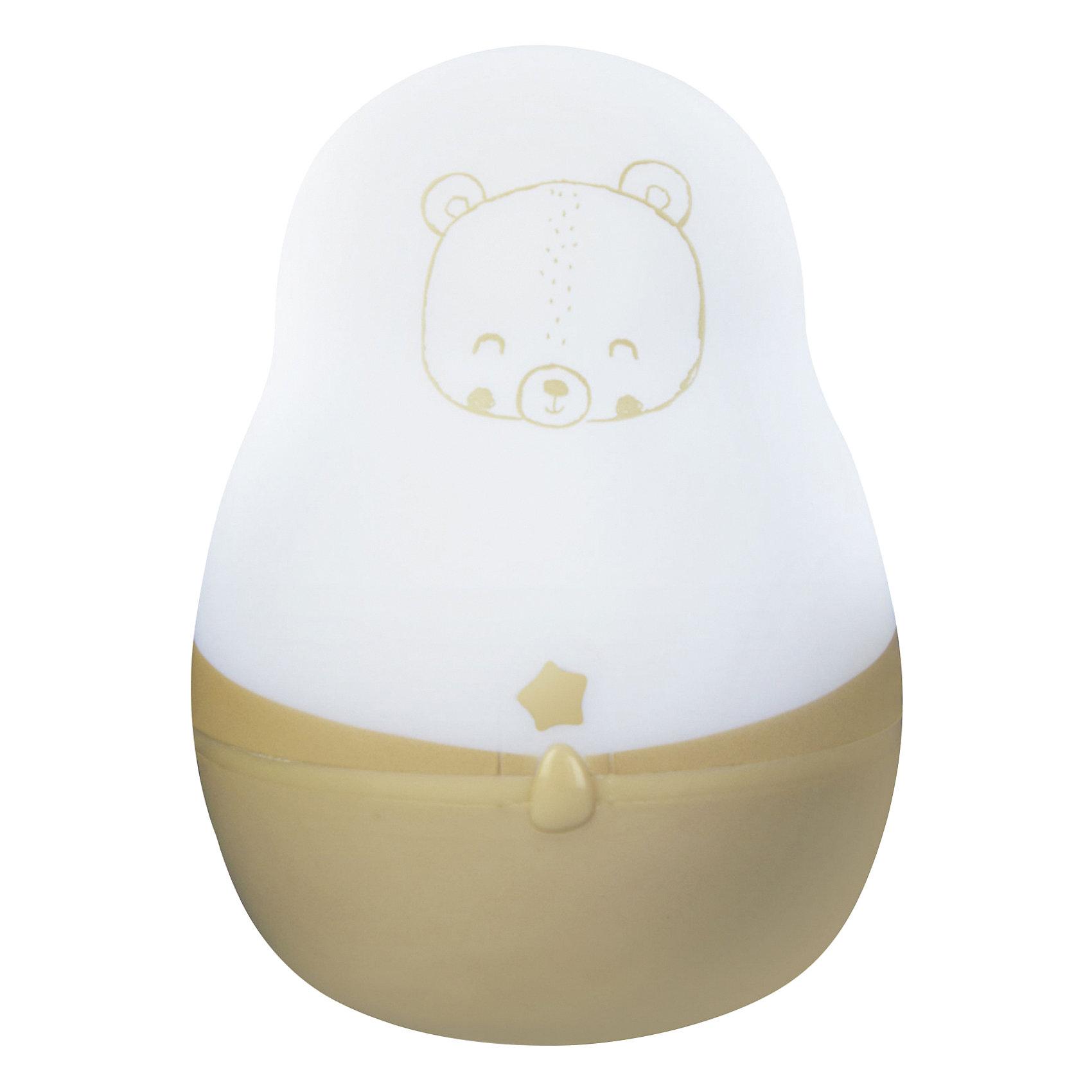 Ночник супер путешественник, Pabobo, ЛесНочники и проекторы<br>Характеристики:<br><br>• Пол: универсальный<br>• Тематика рисунка: медвежонок<br>• Цвет: белый, желтый<br>• Материал: пластик<br>• Мягкий рассеянный свет<br>• Во время работы не нагревается<br>• 200 часов непрерывной работы<br>• Функция адаптации к уровню естественного освещения<br>• Оснащен индикатором уровня заряда<br>• Автоматическое включение/выключение<br>• Способ зарядки: от USB<br>• Размеры: 4*4*8 см<br>• Вес: 80 г <br>• Особенности ухода: допускается сухая и влажная чистка<br><br>Ночник супер путешественник, Pabobo, Лес от французского торгового бренда, который занимается производством детских светильников и проекторов. При изготовлении используются качественные и безопасные материалы, которые характеризуются длительным сроком службы. Пластик, из которого изготовлен ночник, устойчив к повреждениям и появлению царапин, не имеет запаха. <br><br>Светильник оснащен светодиодными лампами, которые не нужно менять. Степень яркости автоматически регулируется в зависимости от естественного освещения. Выполнен в виде фонарика, который можно переносить. У него компактный размер, эргономичная форма и легкий вес, поэтому такой светильник удобно брать с собой в поездки и путешествия, тем более, что для его работы не нужен постоянный источник электричества. Корпус светильника оформлен изображением медвежонка, что делает его не только практичным предметом, но и яркой деталью интерьера детской комнаты.<br><br>Ночник супер путешественник, Pabobo, Лес можно купить в нашем интернет-магазине.<br><br>Ширина мм: 40<br>Глубина мм: 40<br>Высота мм: 80<br>Вес г: 70<br>Возраст от месяцев: 0<br>Возраст до месяцев: 372<br>Пол: Унисекс<br>Возраст: Детский<br>SKU: 5482466