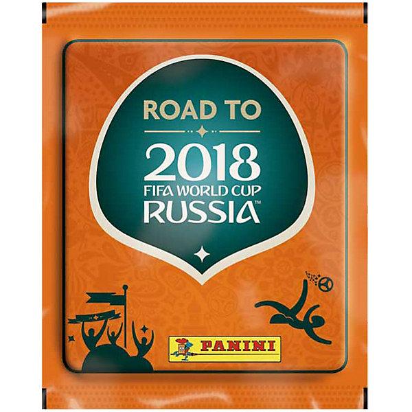Наклейки Panini  Road TO 2018 FIFA World Cup Russia TM , (1 пакет с 5 наклейками)Книжки с наклейками<br>Характеристики:<br><br>• возраст: от 6 лет<br>• издательство: Panini, 2017 г.<br>• комплектация: продается коробом, в коробке 50 пакетов<br>• в одном пакете 5 наклеек<br>• особенности: можно вклеивать несколько раз<br>• материал: бумага с клеевым слоем на подложке<br><br>Яркие качественные наклейки Panini (Панини) предназначены для вклеивания в альбом «Road TO 2018 FIFA World Cup Russia TM», посвященный чемпионату мира 2018 года, который пройдет в нашей стране.<br><br>Всего в коллекции 480 наклеек. Каждую наклейку сопровождают статистические данные о футболисте: имя, фамилия и год рождения, амплуа и дата дебюта в национальной сборной. Игроки на наклейках представлены в движении.<br><br>Наклейки продаются отдельно в пакетах по 5 штук. Наклейки упакованы в непрозрачные пакеты и перемещены случайным образом, поэтому заранее определить, какие наклейки получит коллекционер невозможно.<br><br>Наклейки Panini  Road TO 2018 FIFA World Cup Russia TM , (1 пакет с 5 наклейками) можно купить в нашем интернет-магазине.<br>Ширина мм: 115; Глубина мм: 80; Высота мм: 2; Вес г: 6; Возраст от месяцев: 60; Возраст до месяцев: 120; Пол: Мужской; Возраст: Детский; SKU: 5482480;