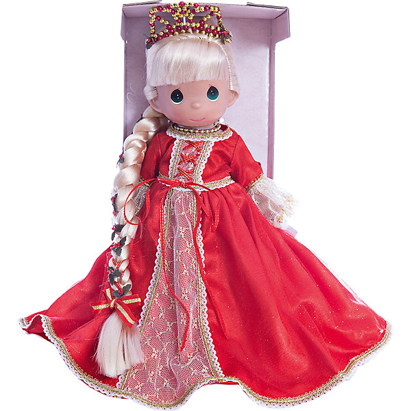 Кукла Рапунцель в красном, 30 см, Precious MomentsБренды кукол<br>Характеристики товара:<br><br>• возраст: от 3 лет;<br>• материал: винил, текстиль;<br>• высота куклы: 30 см;<br>• размер упаковки: 40х30х20 см;<br>• вес упаковки: 600 гр.;<br>• страна производитель: Филиппины.<br><br>Кукла «Рапунцель в красном» Precious Moments — коллекционная кукла с выразительными глазками и светлыми длинными волосами, заплетенными в косу. Рапунцель одета в красное платье, а голову украшает диадема. <br><br>У куклы имеются подвижные детали. Она выполнена из качественного безопасного материала.<br><br>Куклу «Рапунцель в красном» Precious Moments можно приобрести в нашем интернет-магазине.<br>Ширина мм: 140; Глубина мм: 300; Высота мм: 80; Вес г: 428; Возраст от месяцев: 36; Возраст до месяцев: 2147483647; Пол: Женский; Возраст: Детский; SKU: 5482489;