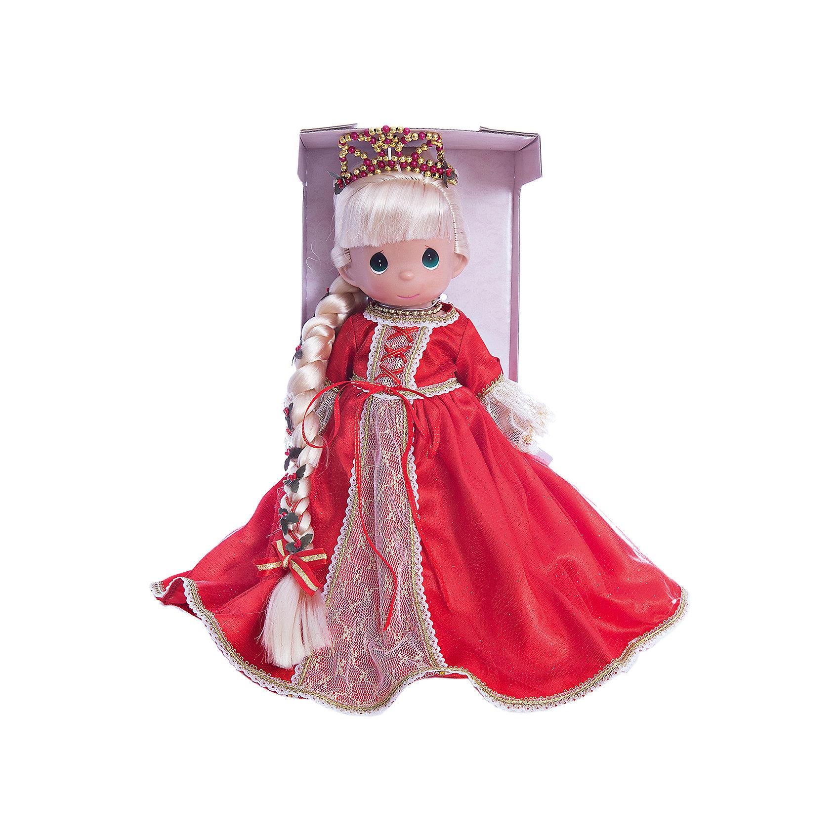 Кукла Рапунцель в красном, 30 см, Precious MomentsКлассические куклы<br>Характеристики товара:<br><br>• возраст: от 3 лет;<br>• материал: винил, текстиль;<br>• высота куклы: 30 см;<br>• размер упаковки: 40х30х20 см;<br>• вес упаковки: 600 гр.;<br>• страна производитель: Филиппины.<br><br>Кукла «Рапунцель в красном» Precious Moments — коллекционная кукла с выразительными глазками и светлыми длинными волосами, заплетенными в косу. Рапунцель одета в красное платье, а голову украшает диадема. <br><br>У куклы имеются подвижные детали. Она выполнена из качественного безопасного материала.<br><br>Куклу «Рапунцель в красном» Precious Moments можно приобрести в нашем интернет-магазине.<br><br>Ширина мм: 140<br>Глубина мм: 300<br>Высота мм: 80<br>Вес г: 428<br>Возраст от месяцев: 36<br>Возраст до месяцев: 2147483647<br>Пол: Женский<br>Возраст: Детский<br>SKU: 5482489