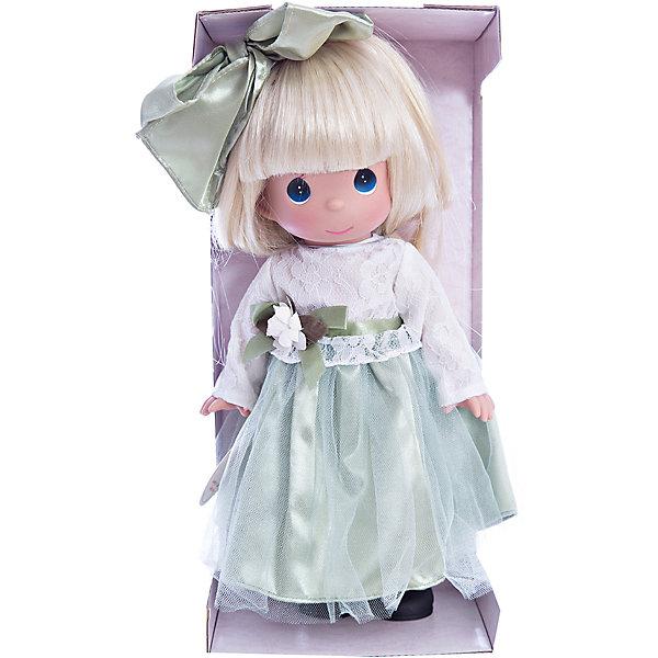 Кукла Симпатичная блондинка в кружевах, 30 см, Precious MomentsКуклы<br>Характеристики товара:<br><br>• возраст: от 5 лет;<br>• материал: винил, текстиль;<br>• высота куклы: 30 см;<br>• размер упаковки: 34х16х9 см;<br>• вес упаковки: 395 гр.;<br>• страна производитель: Филиппины.<br><br>Кукла «Симпатичная блондинка в кружевах» Precious Moments — коллекционная кукла с выразительными голубыми глазками и светлыми волосами. Куколка одета в зеленое платье с кружевным верхом. Волосы завязаны большим бантиком.<br><br>У куклы имеются подвижные детали. Она выполнена из качественного безопасного материала.<br><br>Куклу «Симпатичная блондинка в кружевах» Precious Moments можно приобрести в нашем интернет-магазине.<br><br>Ширина мм: 140<br>Глубина мм: 300<br>Высота мм: 80<br>Вес г: 428<br>Возраст от месяцев: 36<br>Возраст до месяцев: 2147483647<br>Пол: Женский<br>Возраст: Детский<br>SKU: 5482491
