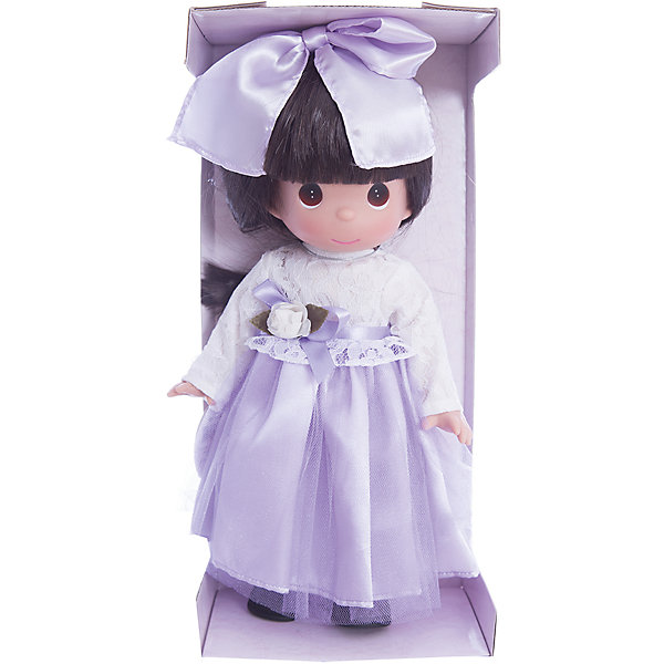 Кукла Симпатичная брюнетка в кружевах, 30 см, Precious MomentsКуклы<br>Характеристики товара:<br><br>• возраст: от 5 лет;<br>• материал: винил, текстиль;<br>• высота куклы: 30 см;<br>• размер упаковки: 34х16х9 см;<br>• вес упаковки: 395 гр.;<br>• страна производитель: Филиппины.<br><br>Кукла «Симпатичная брюнетка в кружевах» Precious Moments — коллекционная кукла с выразительными карими глазками и каштановыми волосами. Куколка одета в фиолетовое платье с кружевным верхом. Волосы завязаны большим бантиком.<br><br>У куклы имеются подвижные детали. Она выполнена из качественного безопасного материала.<br><br>Куклу «Симпатичная брюнетка в кружевах» Precious Moments можно приобрести в нашем интернет-магазине.<br><br>Ширина мм: 140<br>Глубина мм: 300<br>Высота мм: 80<br>Вес г: 428<br>Возраст от месяцев: 36<br>Возраст до месяцев: 2147483647<br>Пол: Женский<br>Возраст: Детский<br>SKU: 5482492