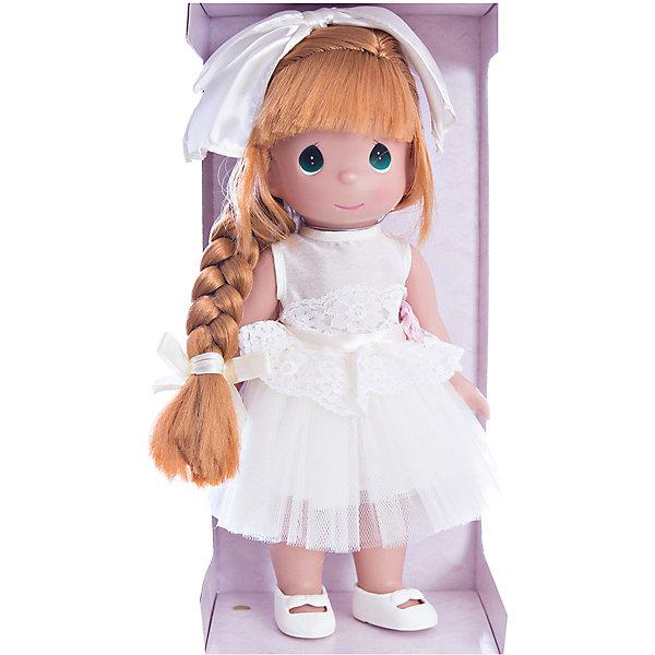 Кукла Великолепная Лилу, рыжая, 30 см, Precious MomentsКуклы<br>Характеристики товара:<br><br>• возраст: от 5 лет;<br>• материал: винил, текстиль;<br>• высота куклы: 30 см;<br>• размер упаковки: 33х17х9 см;<br>• вес упаковки: 345 гр.;<br>• страна производитель: Филиппины.<br><br>Кукла «Великолепная Лилу» Precious Moments рыжая — коллекционная кукла с выразительными зелеными глазками и рыжими волосами. Куколка одета в белоснежное платье, украшенное поясом с розовым цветком. Волосы заплетены в косу и украшены бантиком.<br><br>У куклы имеются подвижные детали. Она выполнена из качественного безопасного материала.<br><br>Куклу «Великолепная Лилу» Precious Moments рыжую можно приобрести в нашем интернет-магазине.<br>Ширина мм: 140; Глубина мм: 300; Высота мм: 80; Вес г: 428; Возраст от месяцев: 36; Возраст до месяцев: 2147483647; Пол: Женский; Возраст: Детский; SKU: 5482493;