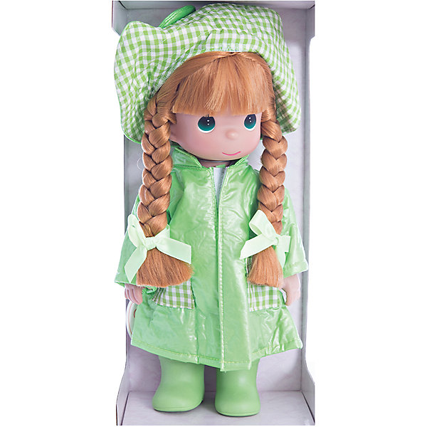 Кукла Дождь и солнце. Лягушонок, 30 см, Precious MomentsБренды кукол<br>Характеристики товара:<br><br>• возраст: от 5 лет;<br>• материал: винил, текстиль;<br>• высота куклы: 30 см;<br>• размер упаковки: 31х14х12 см;<br>• вес упаковки: 445 гр.;<br>• страна производитель: Филиппины.<br><br>Кукла «Дождь и солнце. Лягушонок» Precious Moments — коллекционная кукла с выразительными зелеными глазками и рыжими волосами, заплетенными в косички. Куколка одета в зеленый костюм лягушонка, на голове у нее большая шляпка с большими глазами лягушки.<br><br>У куклы имеются подвижные детали. Она выполнена из качественного безопасного материала.<br><br>Куклу «Дождь и солнце. Лягушонок» Precious Moments можно приобрести в нашем интернет-магазине.<br><br>Ширина мм: 140<br>Глубина мм: 300<br>Высота мм: 80<br>Вес г: 428<br>Возраст от месяцев: 36<br>Возраст до месяцев: 2147483647<br>Пол: Женский<br>Возраст: Детский<br>SKU: 5482498