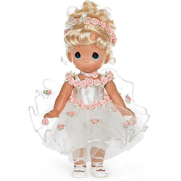 Кукла Танец в сердце, блондинка, 30 см, Precious MomentsКуклы<br>Характеристики товара:<br><br>• возраст: от 5 лет;<br>• материал: винил, текстиль;<br>• высота куклы: 30 см;<br>• размер упаковки: 35х20х10 см;<br>• вес упаковки: 355 гр.;<br>• страна производитель: Филиппины.<br><br>Кукла «Танец в сердце» Precious Moments — коллекционная кукла с выразительными голубыми глазками и светлыми кудрявыми волосами. Куколка одета в белоснежное платье, украшенное розами. У куклы имеются подвижные детали. Она выполнена из качественного безопасного материала.<br><br>Куклу «Танец в сердце» Precious Moments можно приобрести в нашем интернет-магазине.<br><br>Ширина мм: 140<br>Глубина мм: 300<br>Высота мм: 80<br>Вес г: 428<br>Возраст от месяцев: 36<br>Возраст до месяцев: 2147483647<br>Пол: Женский<br>Возраст: Детский<br>SKU: 5482501