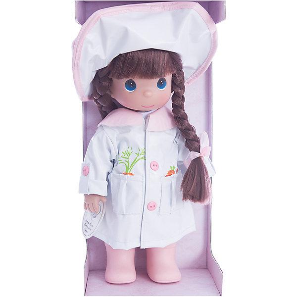 Кукла Дождь и солнце. Друзья, 30 см, Precious MomentsКуклы<br>Характеристики товара:<br><br>• возраст: от 5 лет;<br>• материал: винил, текстиль;<br>• высота куклы: 30 см;<br>• размер упаковки: 30х20х10 см;<br>• вес упаковки: 455 гр.;<br>• страна производитель: Филиппины.<br><br>Кукла «Дождь и солнце. Друзья» Precious Moments — коллекционная кукла с выразительными голубыми глазками и каштановыми волосами, заплетенными в косички. Куколка одета в костюм зайчонка с большой шляпой с ушками.<br><br>У куклы имеются подвижные детали. Она выполнена из качественного безопасного материала.<br><br>Куклу «Дождь и солнце. Друзья» Precious Moments можно приобрести в нашем интернет-магазине.<br><br>Ширина мм: 140<br>Глубина мм: 300<br>Высота мм: 80<br>Вес г: 428<br>Возраст от месяцев: 36<br>Возраст до месяцев: 2147483647<br>Пол: Женский<br>Возраст: Детский<br>SKU: 5482506