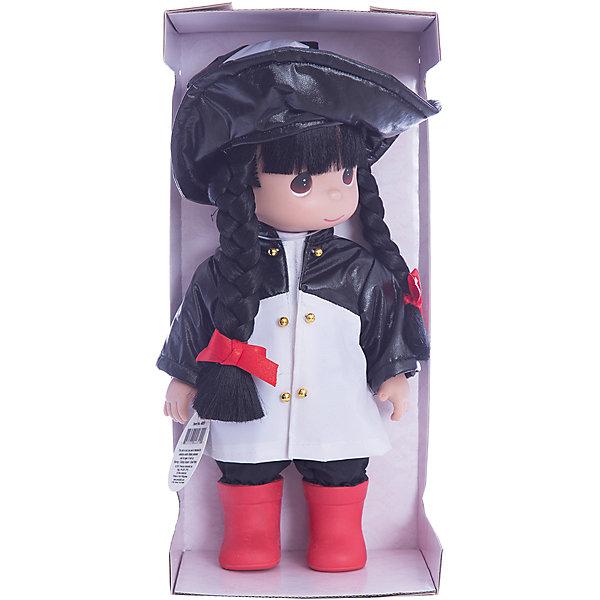 Кукла Дождь и солнце. Панда, 30 см, Precious MomentsБренды кукол<br>Характеристики товара:<br><br>• возраст: от 5 лет;<br>• материал: винил, текстиль;<br>• высота куклы: 30 см;<br>• размер упаковки: 30х20х10 см;<br>• вес упаковки: 450 гр.;<br>• страна производитель: Филиппины.<br><br>Кукла «Дождь и солнце. Панда» Precious Moments — коллекционная кукла с выразительными карими глазками и темными волосами, заплетенными в косички. Куколка одета в черно-белый плащ, на голове у нее большая шляпка с мордочкой панды.<br><br>У куклы имеются подвижные детали. Она выполнена из качественного безопасного материала.<br><br>Куклу «Дождь и солнце. Панда» Precious Moments можно приобрести в нашем интернет-магазине.<br>Ширина мм: 140; Глубина мм: 300; Высота мм: 80; Вес г: 428; Возраст от месяцев: 36; Возраст до месяцев: 2147483647; Пол: Женский; Возраст: Детский; SKU: 5482507;