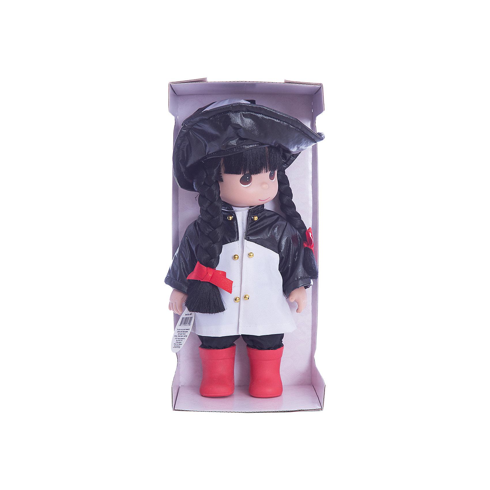 Кукла Дождь и солнце. Панда, 30 см, Precious MomentsКлассические куклы<br>Характеристики товара:<br><br>• возраст: от 5 лет;<br>• материал: винил, текстиль;<br>• высота куклы: 30 см;<br>• размер упаковки: 30х20х10 см;<br>• вес упаковки: 450 гр.;<br>• страна производитель: Филиппины.<br><br>Кукла «Дождь и солнце. Панда» Precious Moments — коллекционная кукла с выразительными карими глазками и темными волосами, заплетенными в косички. Куколка одета в черно-белый плащ, на голове у нее большая шляпка с мордочкой панды.<br><br>У куклы имеются подвижные детали. Она выполнена из качественного безопасного материала.<br><br>Куклу «Дождь и солнце. Панда» Precious Moments можно приобрести в нашем интернет-магазине.<br><br>Ширина мм: 140<br>Глубина мм: 300<br>Высота мм: 80<br>Вес г: 428<br>Возраст от месяцев: 36<br>Возраст до месяцев: 2147483647<br>Пол: Женский<br>Возраст: Детский<br>SKU: 5482507