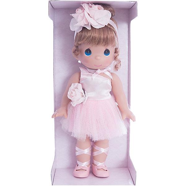 Кукла Балерина, рыжая, 30 см, Precious MomentsКуклы<br>Характеристики товара:<br><br>• возраст: от 5 лет;<br>• материал: винил, текстиль;<br>• высота куклы: 30 см;<br>• размер упаковки: 35х14х8 см;<br>• вес упаковки: 330 гр.;<br>• страна производитель: Филиппины.<br><br>Кукла «Балерина» Precious Moments предстает в образе балерины. Она одета в розовое платье, а на ногах у нее пуанты. Рыжие волосы куколки аккуратно собраны в хвостик и украшены ленточкой с цветком. У куклы имеются подвижные детали. Она выполнена из качественного безопасного материала.<br><br>Куклу «Балерина» Precious Moments можно приобрести в нашем интернет-магазине.<br><br>Ширина мм: 140<br>Глубина мм: 300<br>Высота мм: 80<br>Вес г: 428<br>Возраст от месяцев: 36<br>Возраст до месяцев: 2147483647<br>Пол: Женский<br>Возраст: Детский<br>SKU: 5482510