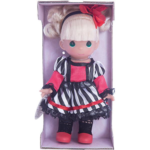 Кукла Сесиль. Франция, 21 см, Precious MomentsКуклы<br>Характеристики товара:<br><br>• возраст: от 5 лет;<br>• материал: винил, текстиль;<br>• высота куклы: 21 см;<br>• размер упаковки: 25х13х7 см;<br>• вес упаковки: 175 гр.;<br>• страна производитель: Филиппины.<br><br>Кукла «Сесиль. Франция» Precious Moments — коллекционная кукла с выразительными зелеными глазками и светлыми волосами, завязанными в хвостик. Куколка одета в черно-белое платье, ажурные колготки и красные туфельки. У куклы имеются подвижные детали. Она выполнена из качественного безопасного материала.<br><br>Куклу «Сесиль. Франция» Precious Moments можно приобрести в нашем интернет-магазине.<br>Ширина мм: 60; Глубина мм: 210; Высота мм: 60; Вес г: 110; Возраст от месяцев: 36; Возраст до месяцев: 2147483647; Пол: Женский; Возраст: Детский; SKU: 5482516;