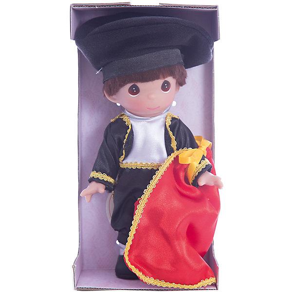 Кукла Сантьяго. Испания, 21 см, Precious MomentsКуклы<br>Характеристики товара:<br><br>• возраст: от 5 лет;<br>• материал: винил, текстиль;<br>• высота куклы: 21 см;<br>• размер упаковки: 25х13х7 см;<br>• вес упаковки: 170 гр.;<br>• страна производитель: Филиппины.<br><br>Кукла «Сантьяго. Испания» Precious Moments — коллекционная кукла с выразительными карими глазками. Сантьяго одет в традиционный костюм испанского тореадора. На нем черный костюм и шляпа, а в руках красная тряпка. У куклы имеются подвижные детали. Она выполнена из качественного безопасного материала.<br><br>Куклу «Сантьяго. Испания» Precious Moments можно приобрести в нашем интернет-магазине.<br>Ширина мм: 60; Глубина мм: 210; Высота мм: 60; Вес г: 110; Возраст от месяцев: 36; Возраст до месяцев: 2147483647; Пол: Женский; Возраст: Детский; SKU: 5482517;