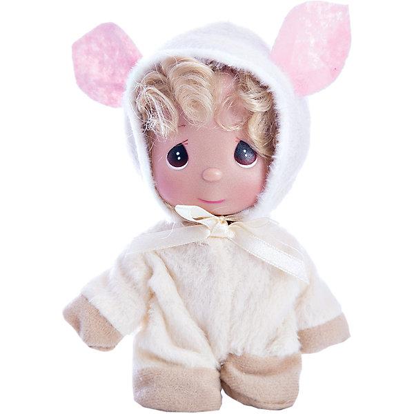 Кукла Овечка, 14 см, Precious MomentsКуклы<br>Характеристики товара:<br><br>• возраст: от 5 лет;<br>• материал: винил, текстиль;<br>• высота куклы: 14 см;<br>• размер упаковки: 16х10х5 см;<br>• вес упаковки: 70 гр.;<br>• страна производитель: Филиппины.<br><br>Кукла «Овечка» 14 см Precious Moments — коллекционная кукла с выразительными карими глазками и светлыми волосами. Она одета в пушистый костюм овечки с большими ушками. У куклы имеются подвижные детали. Она выполнена из качественного безопасного материала.<br><br>Куклу «Овечка» 14 см Precious Moments можно приобрести в нашем интернет-магазине.<br><br>Ширина мм: 60<br>Глубина мм: 140<br>Высота мм: 40<br>Вес г: 80<br>Возраст от месяцев: 36<br>Возраст до месяцев: 2147483647<br>Пол: Женский<br>Возраст: Детский<br>SKU: 5482523