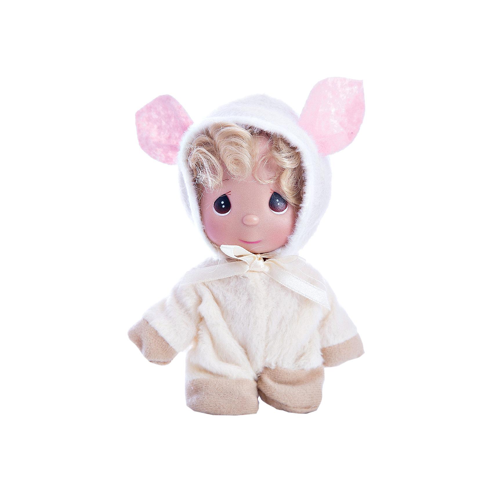 Кукла Овечка, 14 см, Precious MomentsКлассические куклы<br>Характеристики товара:<br><br>• возраст: от 5 лет;<br>• материал: винил, текстиль;<br>• высота куклы: 14 см;<br>• размер упаковки: 16х10х5 см;<br>• вес упаковки: 70 гр.;<br>• страна производитель: Филиппины.<br><br>Кукла «Овечка» 14 см Precious Moments — коллекционная кукла с выразительными карими глазками и светлыми волосами. Она одета в пушистый костюм овечки с большими ушками. У куклы имеются подвижные детали. Она выполнена из качественного безопасного материала.<br><br>Куклу «Овечка» 14 см Precious Moments можно приобрести в нашем интернет-магазине.<br><br>Ширина мм: 60<br>Глубина мм: 140<br>Высота мм: 40<br>Вес г: 80<br>Возраст от месяцев: 36<br>Возраст до месяцев: 2147483647<br>Пол: Женский<br>Возраст: Детский<br>SKU: 5482523