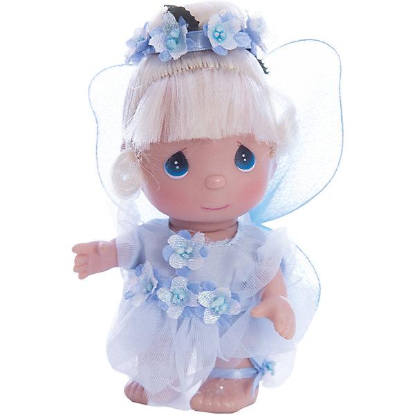 Кукла Фея в голубом, 14 см, Precious MomentsБренды кукол<br>Характеристики товара:<br><br>• возраст: от 5 лет;<br>• материал: винил, текстиль;<br>• высота куклы: 14 см;<br>• размер упаковки: 14х10х6 см;<br>• вес упаковки: 70 гр.;<br>• страна производитель: Филиппины.<br><br>Кукла «Фея в голубом» 14 см Precious Moments — коллекционная кукла с выразительными голубыми глазками и светлыми волосами, украшенными ободком из цветов. Она одета в сказочное голубое платье. За спиной у маленькой феи самые настоящие крылышки. У куклы имеются подвижные детали. Она выполнена из качественного безопасного материала.<br><br>Куклу «Фея в голубом» 14 см Precious Moments можно приобрести в нашем интернет-магазине.<br><br>Ширина мм: 60<br>Глубина мм: 140<br>Высота мм: 40<br>Вес г: 80<br>Возраст от месяцев: 36<br>Возраст до месяцев: 2147483647<br>Пол: Женский<br>Возраст: Детский<br>SKU: 5482524