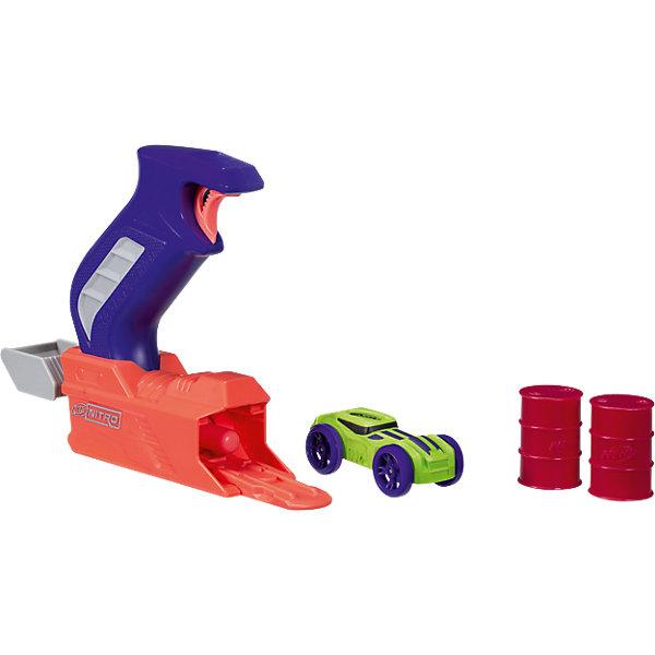 Пусковое устройство Nerf Нитро с зелёной машинкойМашинки<br>Характеристики:<br><br>• возраст: от 5 лет;<br>• материал: пластик;<br>• в наборе: пусковое устройство, машинка, 2 аксессуара;<br>• вес упаковки: 260 гр.;<br>• размер: 20х4х23;<br>• страна бренда: США.<br><br>Пусковое устройство Nerf «Нитро» создано для ярких заездов по полосе препятствий. Нужно зарядить устройство машинкой, нажать на кнопку пуска, и игрушка помчится вперед, сшибая все на своем пути.<br><br>Набор выполнен в фирменном стиле Nerf и сочетается с другими наборами этой серии. Сделано из качественного безопасного пластика.<br><br>Пусковое устройство Нёрф «Нитро», Nerf можно купить в нашем интернет-магазине.<br>Ширина мм: 236; Глубина мм: 208; Высота мм: 50; Вес г: 216; Возраст от месяцев: 60; Возраст до месяцев: 120; Пол: Мужской; Возраст: Детский; SKU: 5482536;