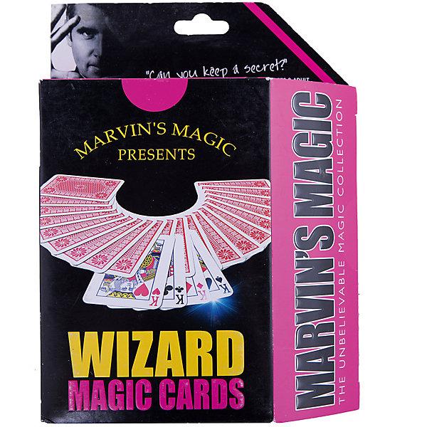 Набор фокусов Волшебные картыФокусы и розыгрыши<br>Набор фокусов Волшебные карты.<br><br>Характеристики:<br><br>• Возраст: от 8 лет<br>• В наборе: коническая колода карт, подробная инструкция<br>• Количество фокусов: 23<br>• Материал: картон<br>• Упаковка: картонная коробка<br>• Размер упаковки: 19х14х4 см.<br><br>Набор Волшебные карты от Marvins Magic превратит Вас в настоящего карточного фокусника! Набор включает инструкцию с описанием трюков и фокусов на русском языке с поясняющими рисунками, а также коническую колоду, которая состоит из карт, которые немного шире с одного конца, чем с другого. Сужение колоды незаметно для неосведомленных людей. Фокусы и трюки с коническими картами основываются на том что если вытащить одну карту, перевернуть и положить ее обратно в колоду, то карту будет легко определить из-за того, что ее широкая грань будет отличаться от узких. <br><br>Перевернутую карту тяжело увидеть, но Вы легко сможете ее почувствовать. С набором Волшебные карты от Marvins Magic Вы научитесь несложным в исполнении, но эффектным и впечатляющим трюкам с картами! Кроме того набор Волшебные карты от Marvins Magic - это отличный тренажер для развития сообразительности, ловкости и быстроты реакции.<br><br>Набор фокусов Волшебные карты можно купить в нашем интернет-магазине.<br>Ширина мм: 140; Глубина мм: 40; Высота мм: 190; Вес г: 152; Возраст от месяцев: 96; Возраст до месяцев: 2147483647; Пол: Унисекс; Возраст: Детский; SKU: 5482545;