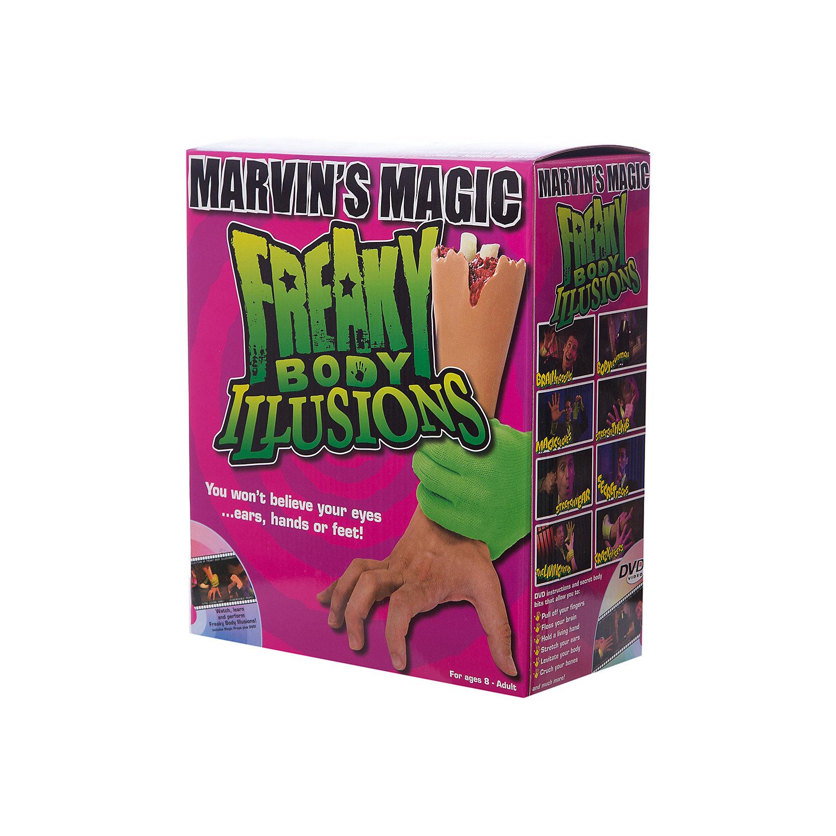 Набор фокусов Смешные ужасы с  рукойФокусы и розыгрыши<br>Набор фокусов Смешные ужасы с рукой.<br><br>Характеристики:<br><br>• Возраст: от 8 лет<br>• В наборе: бутафорская рука, карточки, DVD диск с инструкциями<br>• Материал: пластик<br>• Упаковка: картонная коробка<br><br>Набор Смешные ужасы c рукой позволит маленьким фокусникам проделывать самые невероятные трюки и создавать удивительные иллюзии со своим телом. В набор входит реалистичная бутафорская рука, DVD диск с инструкциями о том, как можно напугать и удивить с помощью этого аксессуара. Набор развивает координацию движений, артистизм, навыки общения и выступления на публике.<br><br>Набор фокусов Смешные ужасы с рукой можно купить в нашем интернет-магазине.<br><br>Ширина мм: 250<br>Глубина мм: 100<br>Высота мм: 29<br>Вес г: 900<br>Возраст от месяцев: 96<br>Возраст до месяцев: 2147483647<br>Пол: Унисекс<br>Возраст: Детский<br>SKU: 5482547