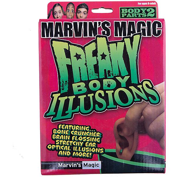 Набор фокусов Смешные ужасы  и иллюзии с  частями телаФокусы и розыгрыши<br>Набор фокусов Смешные ужасы и иллюзии с частями тела.<br><br>Характеристики:<br><br>• Возраст: от 8 лет<br>• В наборе: бутафорское ухо, картонный конверт, пластиковая деталь с шестеренкой, шнурок в прозрачной трубке, карточка члена клуба Марвинс Мэйджик, DVD диск с инструкциями<br>• Материал: пластик<br>• Упаковка: картонная коробка<br><br>Набор Смешные ужасы. Иллюзии с телом позволит маленьким фокусникам проделывать самые невероятные трюки и создавать удивительные иллюзии со своим телом. В набор входит реалистичное бутафорское ухо, аксессуары и DVD диск с инструкциями о том, как можно напугать и удивить своих друзей. Набор развивает координацию движений, артистизм, навыки общения и выступления на публике.<br><br>Набор фокусов Смешные ужасы и иллюзии с частями тела можно купить в нашем интернет-магазине.<br>Ширина мм: 160; Глубина мм: 55; Высота мм: 235; Вес г: 205; Возраст от месяцев: 96; Возраст до месяцев: 2147483647; Пол: Унисекс; Возраст: Детский; SKU: 5482548;