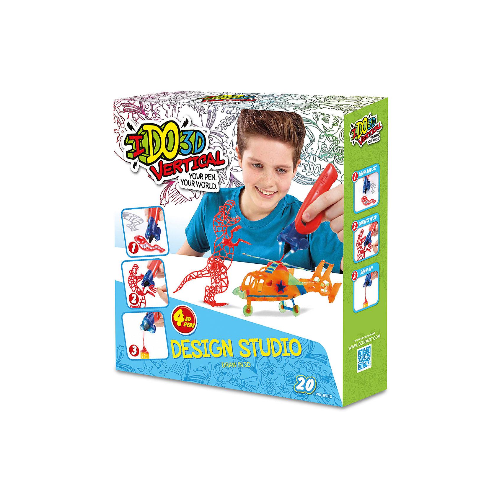 3D ручка Вертикаль,4шт, Дикие забавы (оранж+зел+син+красн)3D-ручки<br>Революционная игрушка в области 3Д рисования, новинка 2016 -  Ручка 3D для рисования в воздухе. В наборе- 4 цветные 3D ручки, световая насадка для отверждения, трафареты и инструкция. Работает от 3-х батареек А76/(LR44) входят в набор<br><br>Ширина мм: 30<br>Глубина мм: 7<br>Высота мм: 33<br>Вес г: 4<br>Возраст от месяцев: 36<br>Возраст до месяцев: 2147483647<br>Пол: Унисекс<br>Возраст: Детский<br>SKU: 5482767