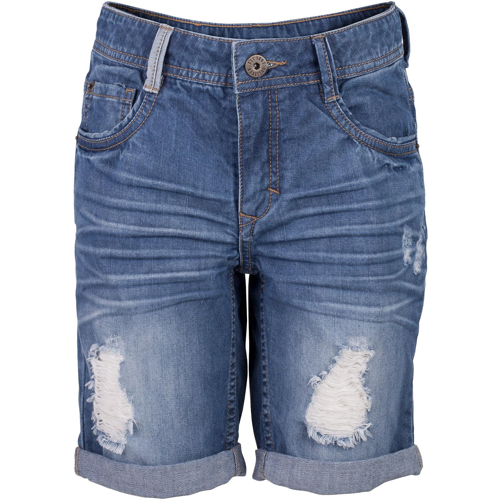 Шорты для мальчика GulliverДжинсовые шорты для мальчика - изделие из разряда must have! Во-первых, это стильный удобный элемент гардероба, идеально подходящий к любой футболке, майке, джемперу. Во-вторых, джинсовые шорты очень практичны, а значит, незаменимы для активных игр и долгих прогулок на свежем воздухе. Поклонники Gulliver, конечно, уже привыкли к интересным джинсовым изделиям. Но в каждом сезоне дизайнеры компании создают новые элементы и выразительные детали. Модная посадка изделия на фигуре, варка, повреждения, потертости, цветные брызги - у вас снова есть шанс купить классные джинсовые шорты от лучшего бренда детской одежды! Синие шорты для мальчика - оптимальное решение для яркого и комфортного лета!<br>Состав:<br>100% хлопок<br><br>Ширина мм: 191<br>Глубина мм: 10<br>Высота мм: 175<br>Вес г: 273<br>Цвет: синий<br>Возраст от месяцев: 108<br>Возраст до месяцев: 120<br>Пол: Мужской<br>Возраст: Детский<br>Размер: 140,122,128,134<br>SKU: 5482837