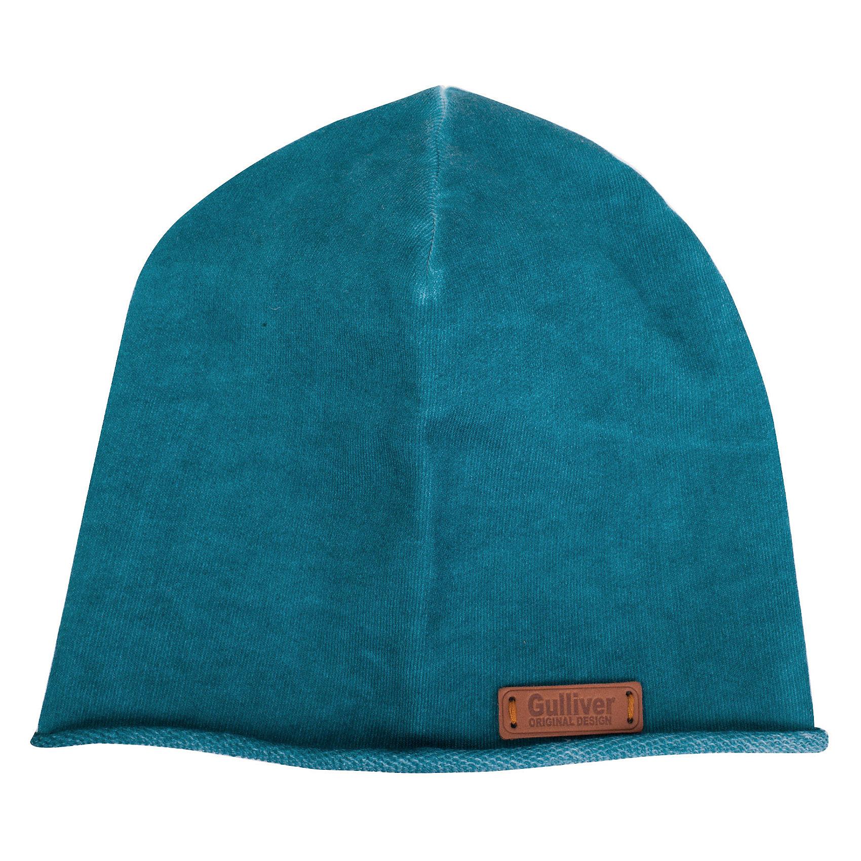 Шапка для мальчика GulliverГоловные уборы<br>Стильная вязаная шапка для мальчика отлично дополнит повседневный образ ребенка. Мягкая, легкая, комфортная, она отлично разместится  в кармане пальто или куртки,  чтобы в любой момент защитить модника от непогоды и ветра.<br>Состав:<br>100% хлопок<br><br>Ширина мм: 89<br>Глубина мм: 117<br>Высота мм: 44<br>Вес г: 155<br>Цвет: голубой<br>Возраст от месяцев: 72<br>Возраст до месяцев: 84<br>Пол: Мужской<br>Возраст: Детский<br>Размер: 54,52<br>SKU: 5482853