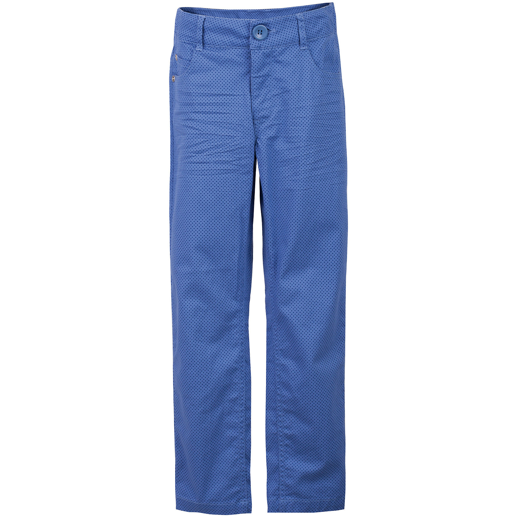 Брюки для мальчика GulliverБрюки<br>Несмотря на то, что джинсы по-прежнему занимают в гардеробе ребенка лидирующее место, текстильные брюки для мальчика никто не отменял! Везде, где джинсы неуместны или просто хочется разнообразия,  оригинальные голубые брюки  помогут создать прекрасный look. Модный мелкий рисунок придает модели особый шарм. Темно-голубой  цвет выглядит нарядно, благородно, изысканно! Если вы хотите купить детские брюки, которые подчеркнут стиль и индивидуальность вашего ребенка, эти классные брюки для мальчика с фирменной брендированной фурнитурой - лучшее решение для модного лета!<br>Состав:<br>98% хлопок      2% эластан<br><br>Ширина мм: 215<br>Глубина мм: 88<br>Высота мм: 191<br>Вес г: 336<br>Цвет: голубой<br>Возраст от месяцев: 72<br>Возраст до месяцев: 84<br>Пол: Мужской<br>Возраст: Детский<br>Размер: 122,140,134,128<br>SKU: 5482975