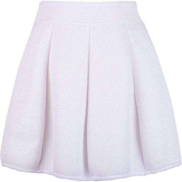 Юбка для девочки GulliverЮбки<br>Белая юбка для девочки из модного неопрена - прекрасный вариант для тех, кто хочет быть в тренде. Юбка прекрасно держит форму и выглядит оригинально благодаря фактурной сетчатой поверхности. Белая юбка - вещь совершенно универсальная. С любой футболкой, джемпером, ветровкой, она будет смотреться ярко, создавая элегантный образ в спортивном стиле. Если вы хотите приобрести что-то новое, интересное, необычное, вам стоит купить белую юбку из неопрена. Оригинальная, необычная и в то же время очень удобная, комфортная вещь зарекомендует себя с лучшей стороны и во время городских прогулок, и в путешествии. Небольшой функциональный акцент - серебристая крупная молния сзади подчеркивает актуальность модели.<br>Состав:<br>50% хлопок      50% модал /100% полиэстер<br>Ширина мм: 207; Глубина мм: 10; Высота мм: 189; Вес г: 183; Цвет: белый; Возраст от месяцев: 120; Возраст до месяцев: 132; Пол: Женский; Возраст: Детский; Размер: 146,164,158,152; SKU: 5483069;
