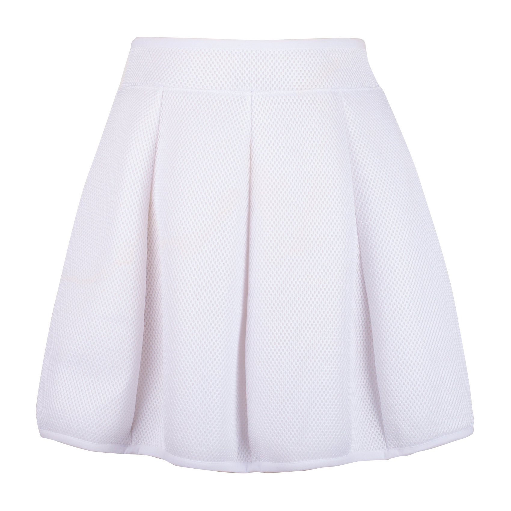 Юбка для девочки GulliverЮбки<br>Белая юбка для девочки из модного неопрена - прекрасный вариант для тех, кто хочет быть в тренде. Юбка прекрасно держит форму и выглядит оригинально благодаря фактурной сетчатой поверхности. Белая юбка - вещь совершенно универсальная. С любой футболкой, джемпером, ветровкой, она будет смотреться ярко, создавая элегантный образ в спортивном стиле. Если вы хотите приобрести что-то новое, интересное, необычное, вам стоит купить белую юбку из неопрена. Оригинальная, необычная и в то же время очень удобная, комфортная вещь зарекомендует себя с лучшей стороны и во время городских прогулок, и в путешествии. Небольшой функциональный акцент - серебристая крупная молния сзади подчеркивает актуальность модели.<br>Состав:<br>50% хлопок      50% модал /100% полиэстер<br><br>Ширина мм: 207<br>Глубина мм: 10<br>Высота мм: 189<br>Вес г: 183<br>Цвет: белый<br>Возраст от месяцев: 156<br>Возраст до месяцев: 168<br>Пол: Женский<br>Возраст: Детский<br>Размер: 164,146,152,158<br>SKU: 5483069