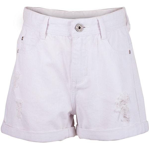 Шорты для девочки GulliverШорты, бриджи, капри<br>Белые шорты для девочки - идеальный вариант для комфортного лета! С любой футболкой, майкой, топом, белые шорты составят отличный комплект! Увы, не каждые шорты станут для стильной девочки-подростка настоящим подарком... Но шорты от Gulliver - модель, которую даже самые требовательные модницы оценят по достоинству! Правильная длина, современная посадка изделия на фигуре, повреждения и отделка заднего кармана серебряным принтом делают эти шорты основой стильного летнего гардероба подростка! Если вы собираетесь купить шорты, помните, что модные детские шорты в сезоне Весна/Лето 2017 должны быть именно такими!<br>Состав:<br>100% хлопок<br><br>Ширина мм: 191<br>Глубина мм: 10<br>Высота мм: 175<br>Вес г: 273<br>Цвет: белый<br>Возраст от месяцев: 156<br>Возраст до месяцев: 168<br>Пол: Женский<br>Возраст: Детский<br>Размер: 164,158,152,146<br>SKU: 5483074