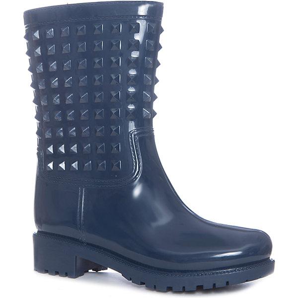 Резиновые сапоги для девочки GulliverРезиновые сапоги<br>Прошли те времена, когда резиновые сапоги играли исключительно функциональную роль. В наше время дизайну резиновых сапог уделяется такое же внимание, как босоножкам и туфлям. И действительно, почему в дождь и слякоть надо выглядеть хуже? Если вы уверены в том, что обувь - главный игрок в построении стильного гардероба, эти резиновые сапоги с шипами - лучшее тому доказательство!<br>Состав:<br>верх:ПВХ; подкладка: текстиль; подошва:ПВХ<br><br>Ширина мм: 237<br>Глубина мм: 180<br>Высота мм: 152<br>Вес г: 438<br>Цвет: синий<br>Возраст от месяцев: 144<br>Возраст до месяцев: 156<br>Пол: Женский<br>Возраст: Детский<br>Размер: 36,38,37,40,39<br>SKU: 5483097